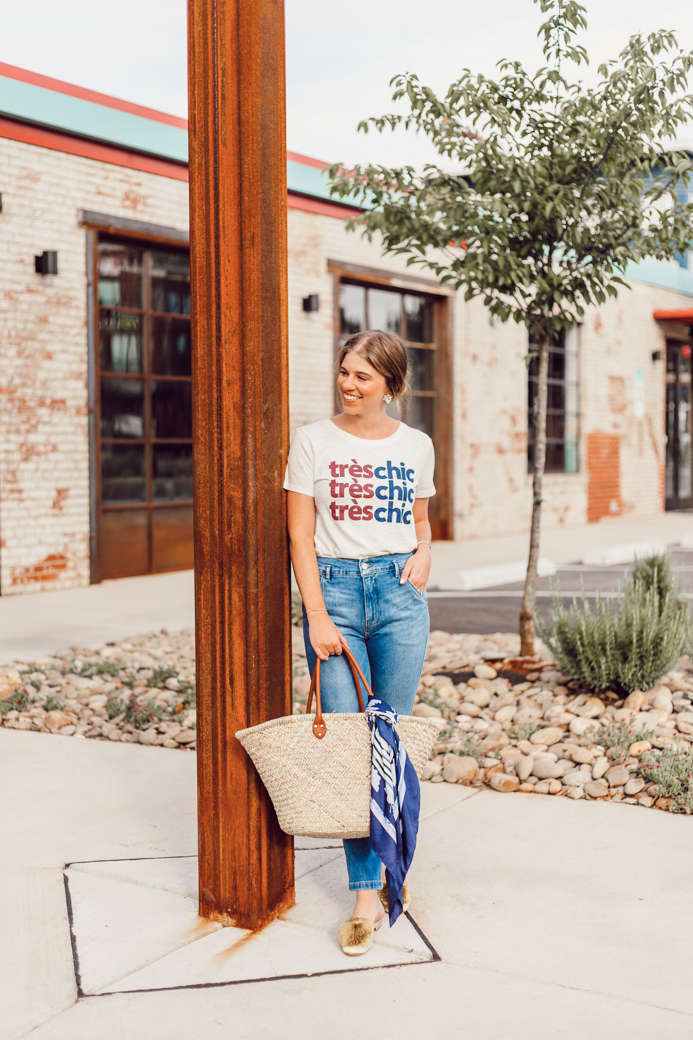 How to Style Your Favorite Graphic Tee this Summer featured on Louella Reese Life & Style Blog | Graphic Tee Summer Style, Très Chic Tee