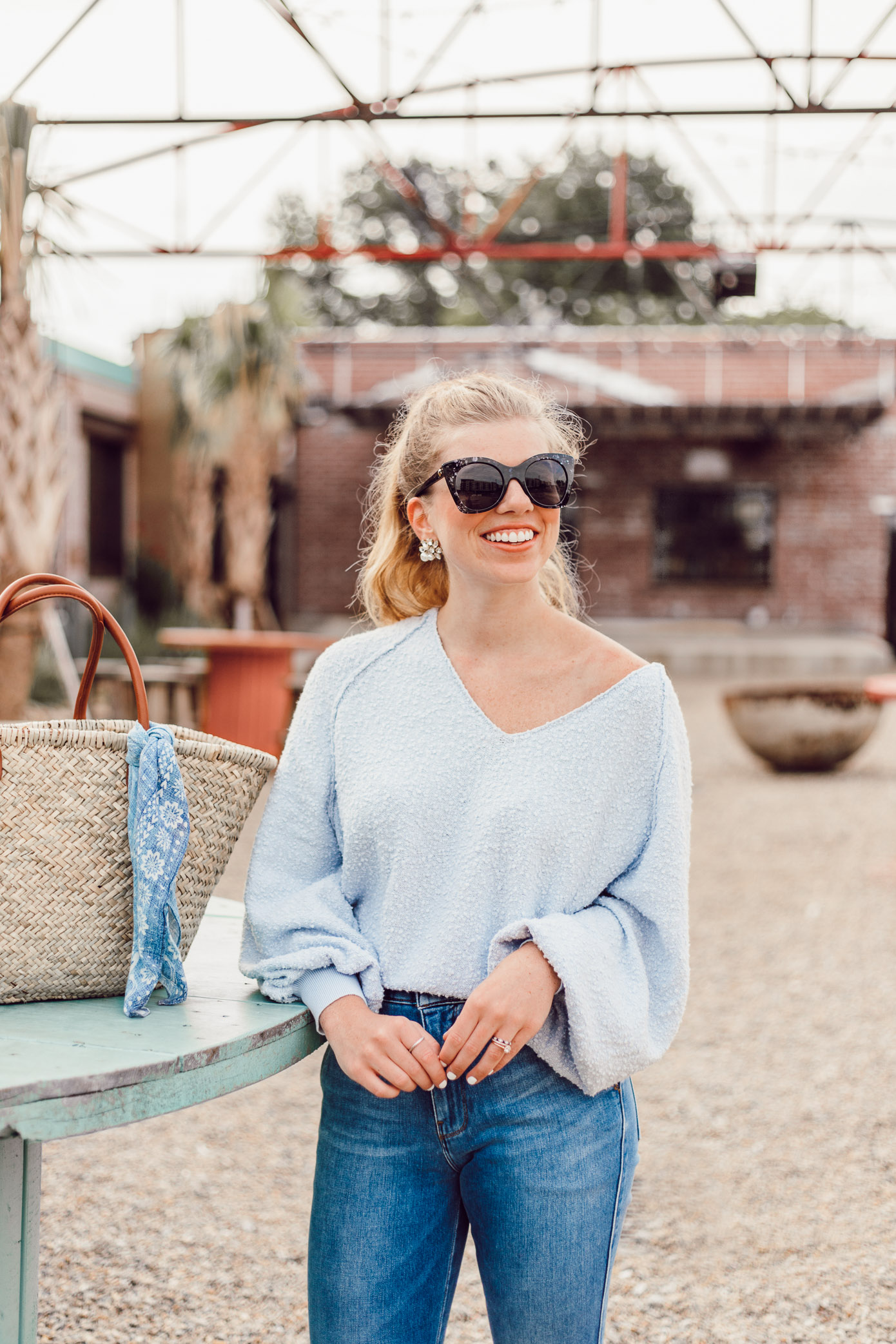 Summer Everyday Casual | Free People Found My Friend Sweater styled on Louella Reese