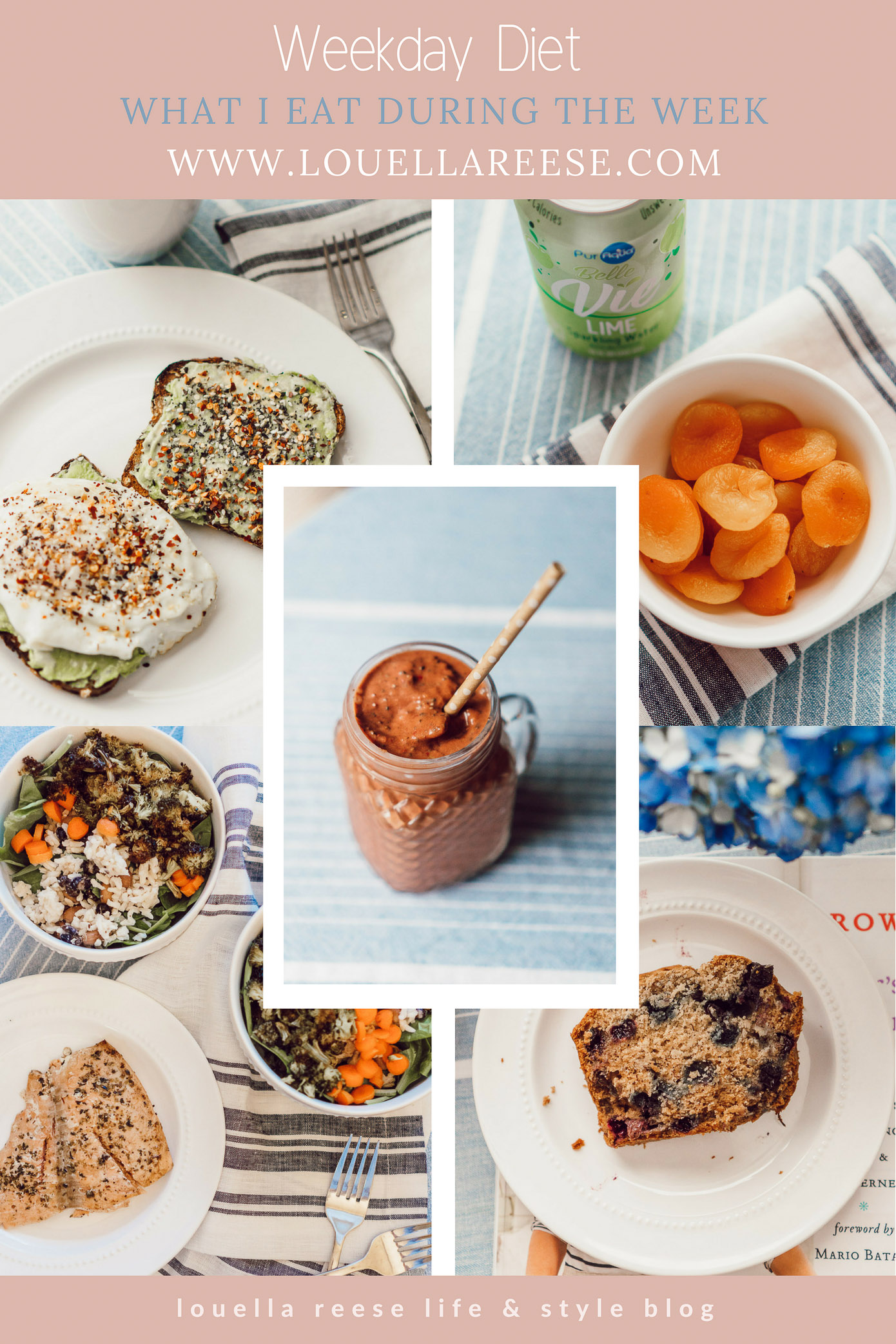 What I Eat During the Week, Weekday Diet featured on Louella Reese