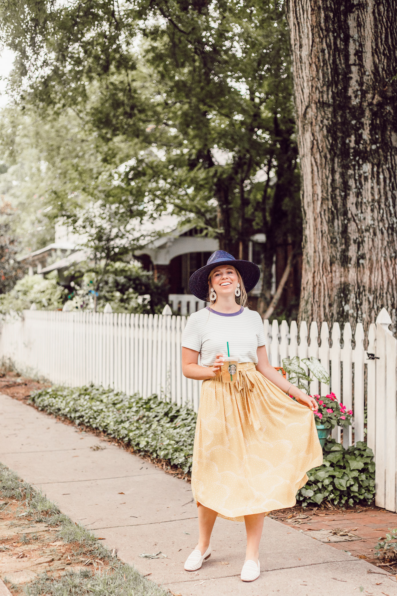 Yellow Midi Skirt for Late Summer, Early Fall | Late Summer Bucket List featured on Louella Reese