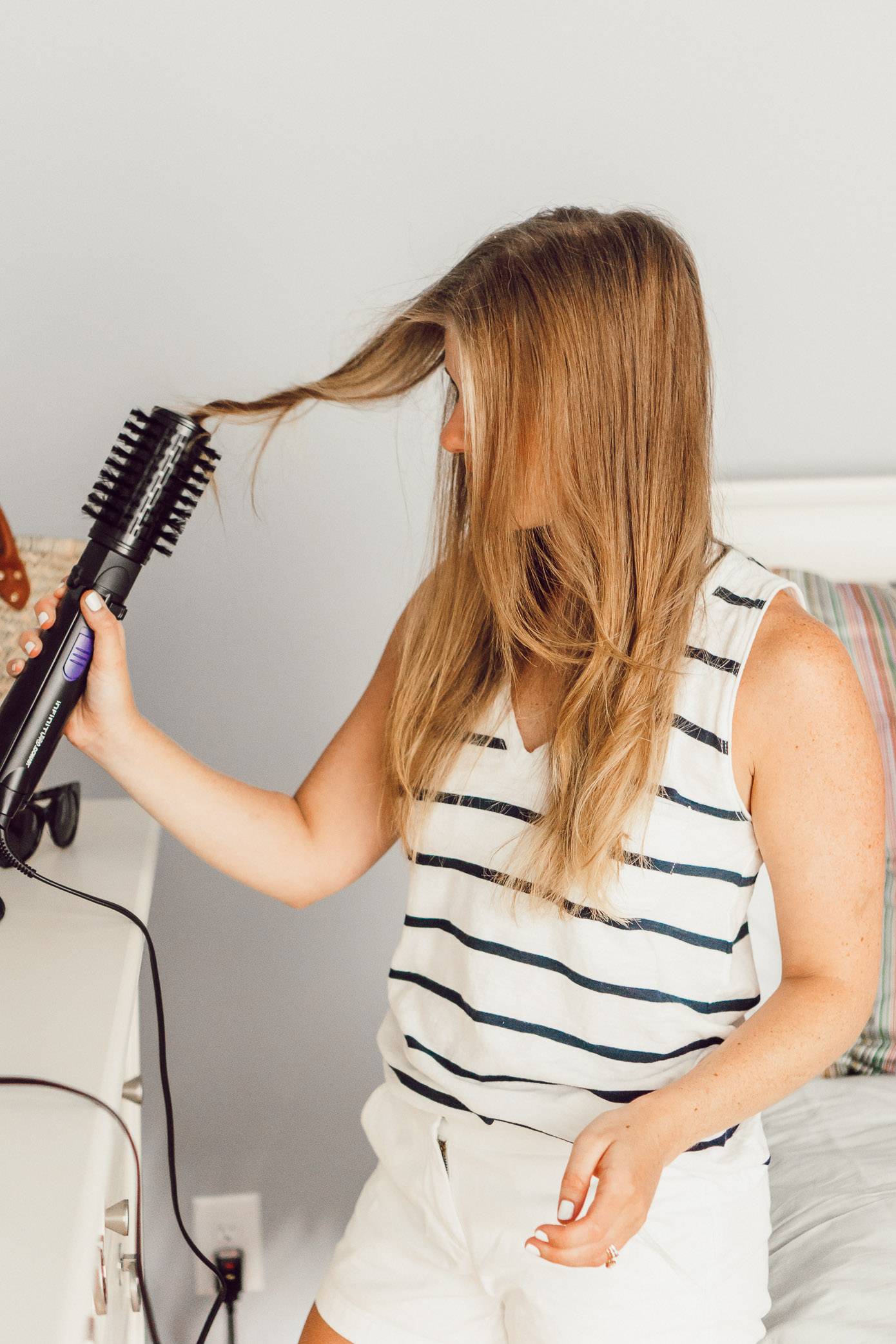 Two Summer Hairstyles with Conair | InfinitiPRO Spin Air Brush and InfinitiPRO Curl Secret 2.0 | Easy Summer Hairstyles featured on Louella Reese