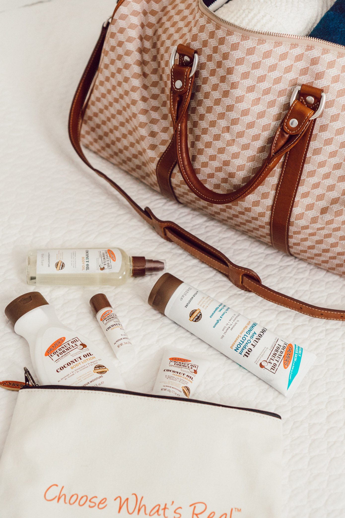 Palmer's Coconut Oil Skincare | Five Ways to Hydrate Your Skin While Traveling featured on Louella Reese