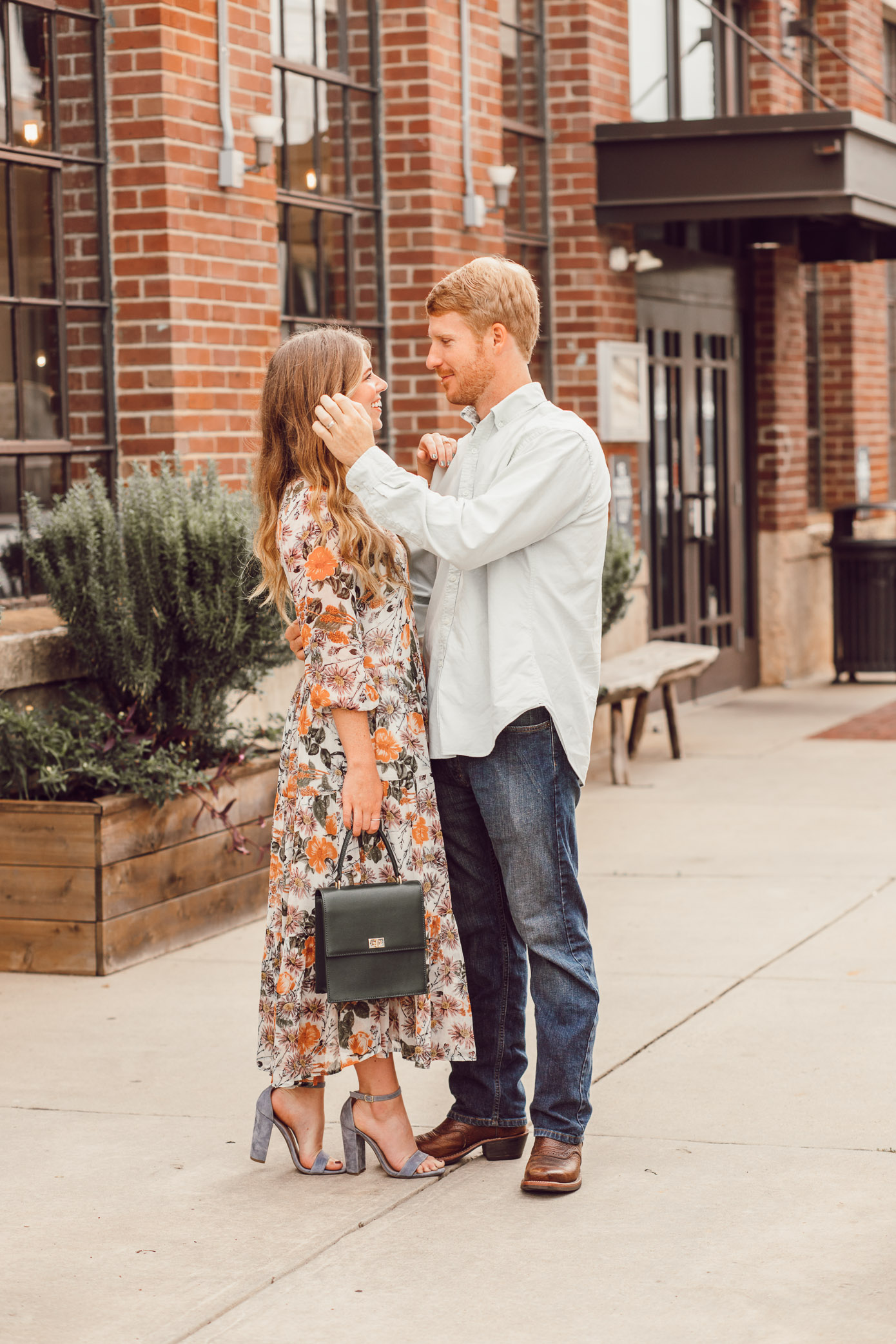 Fall Floral Midi Dress for Date Night | Date Night Beauty Tips featured on Louella Reese Blog