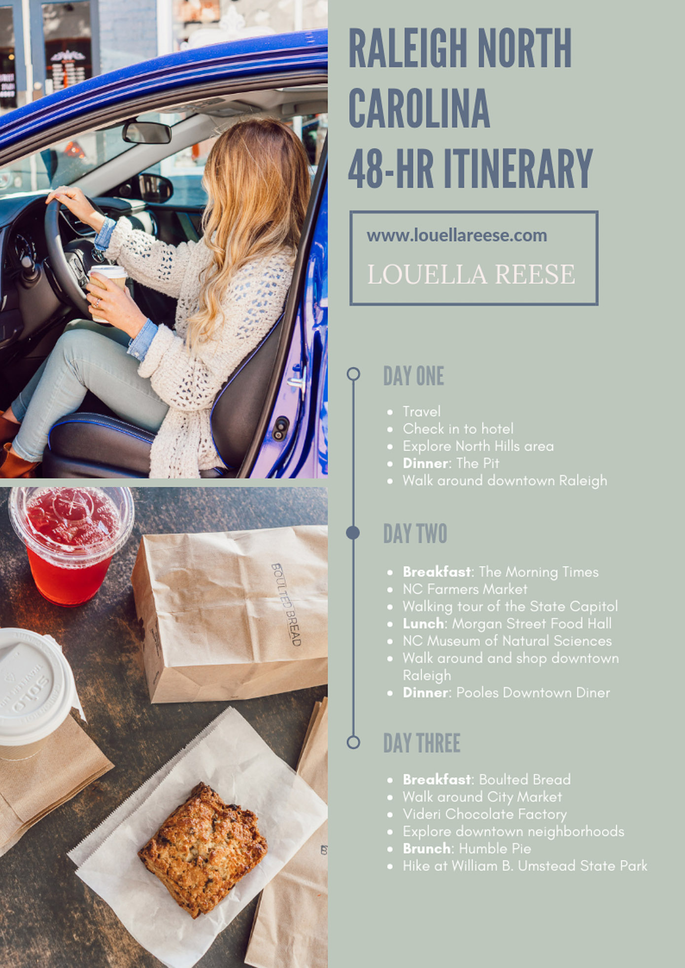 48 Hour Raleigh NC Itinerary   Raleigh NC Travel Guide featured on Louella Reese