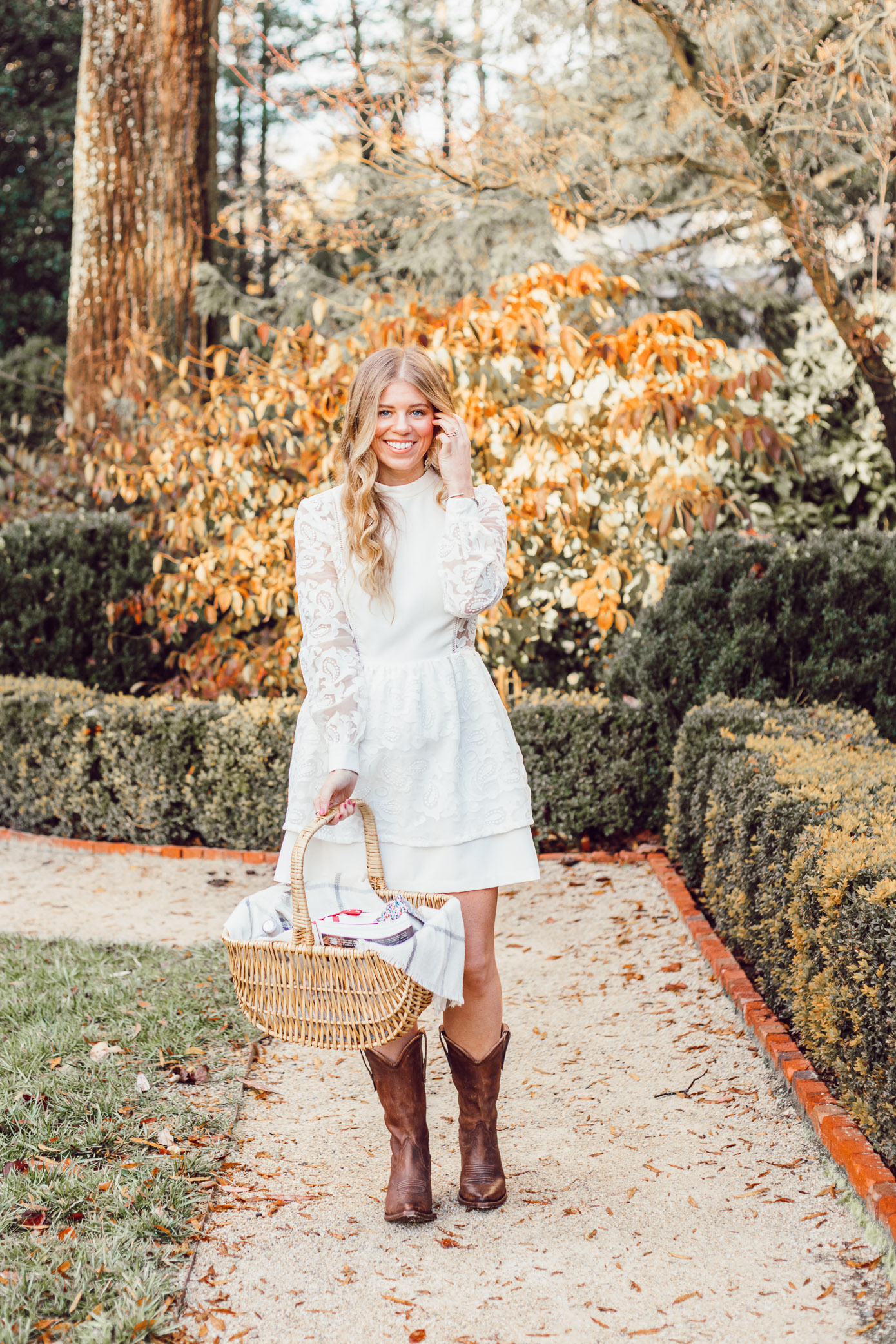 White Mini Dress | How To Celebrate Special Occasions the Right Way With The BEST Small Personal Wine Bottles- Louella Reese