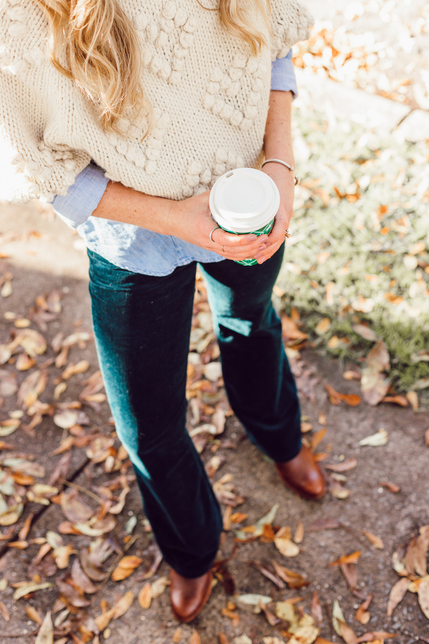 Teal Corduroy Pants | Styling Corduroys for Winter | Must Try Winter Trend featured on Louella Reese Life & Style Blog