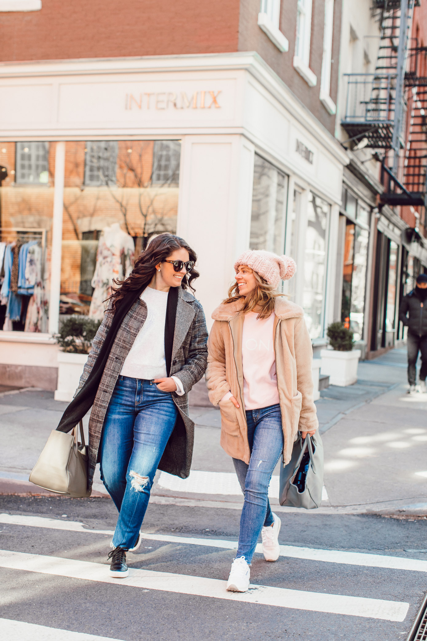 Best Friend Sweatshirts, Brunette the Label Sweatshirts | How to Coordinate with Your Best Friend featured on Louella Reese