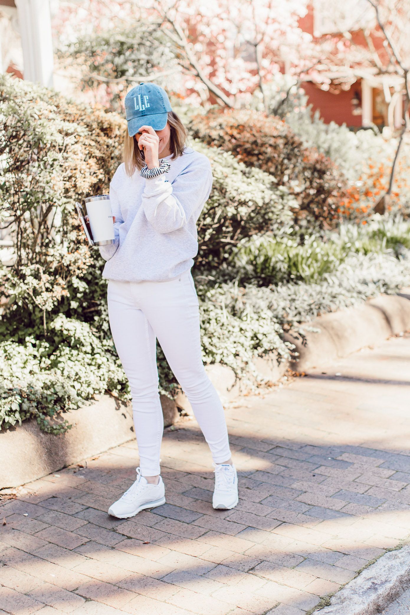 The BEST Monogrammed Pieces for Spring 2019 | Monogrammed Crewneck Sweatshirt, Monogrammed Baseball Cap styled on Louella Reese