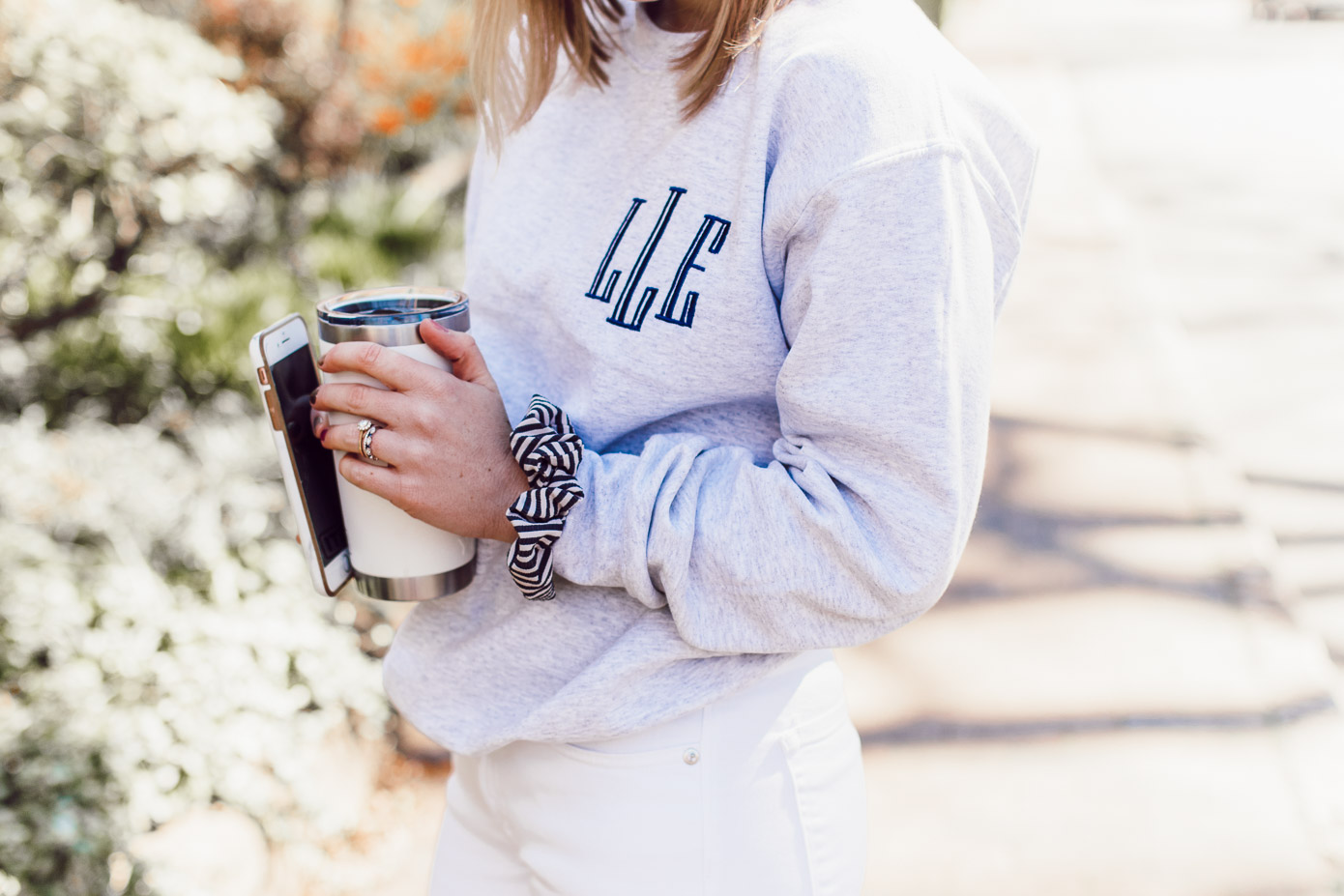 The BEST Monogrammed Pieces for Spring 2019 | Monogrammed Crewneck Sweatshirt styled on Louella Reese