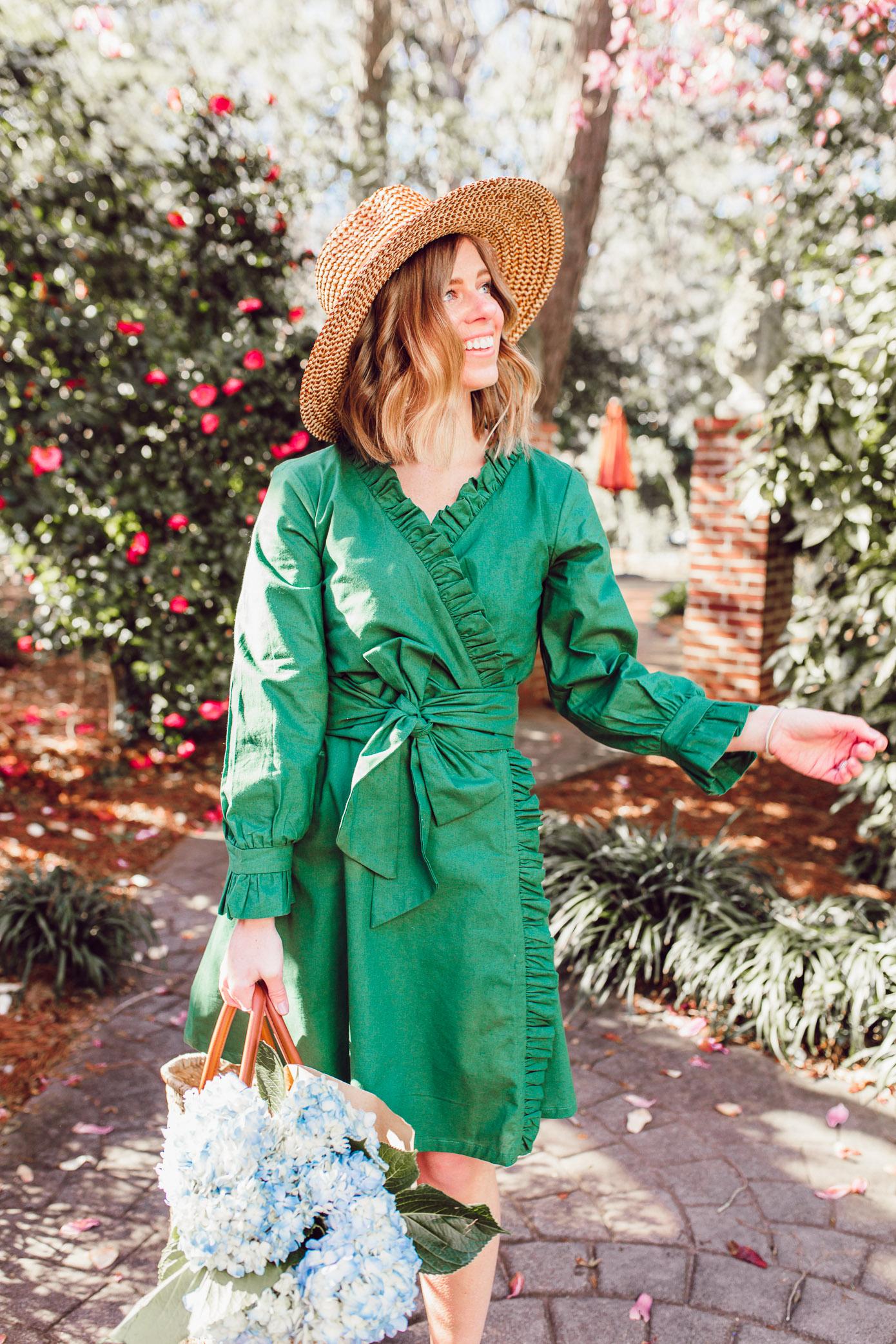 Laura Leigh Elliott shares her favorite Green Spring Dresses | Louella Reese