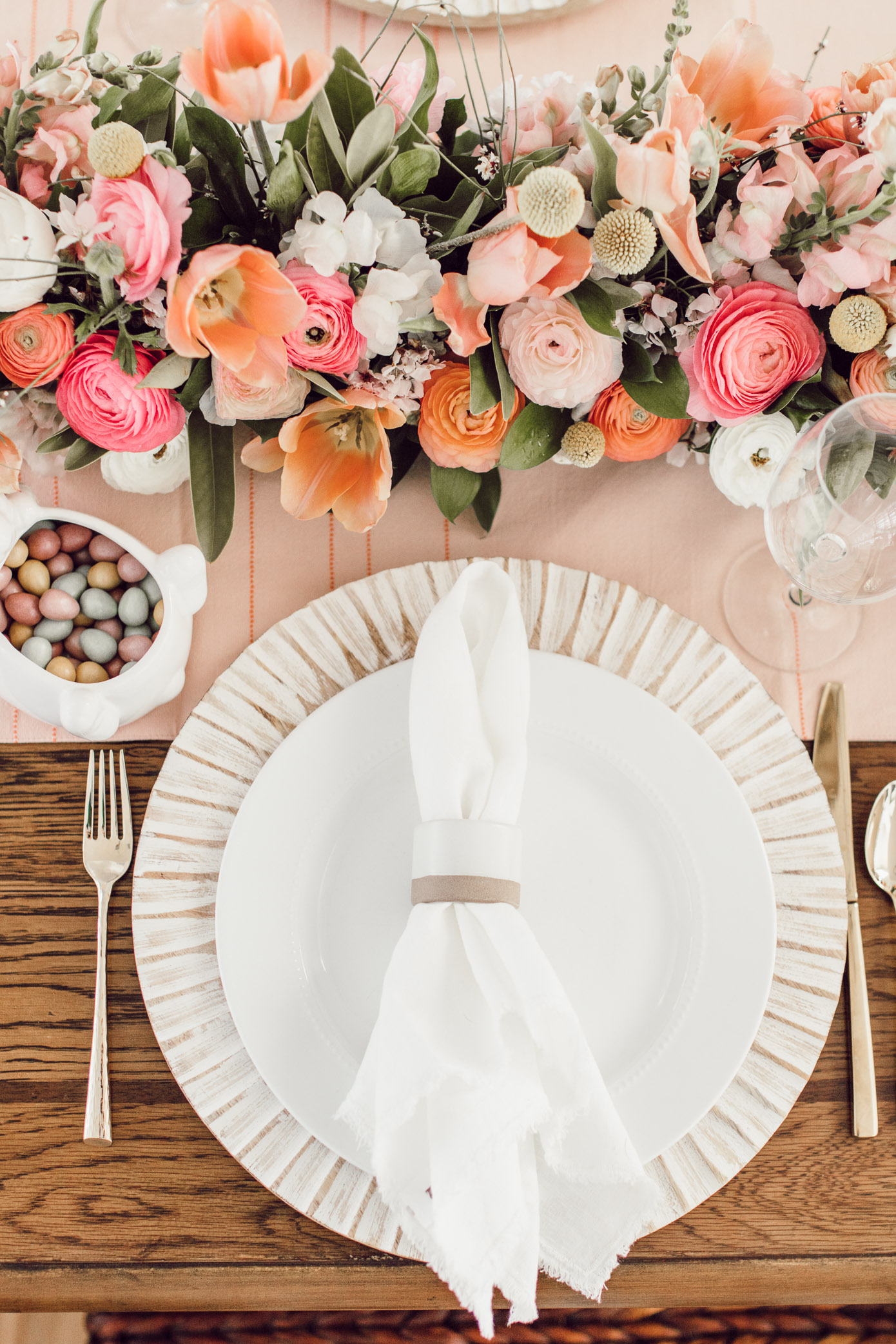A Pink Spring Brunch Tablescape | How to Decorate Your Table for Easter Brunch | Louella Reese