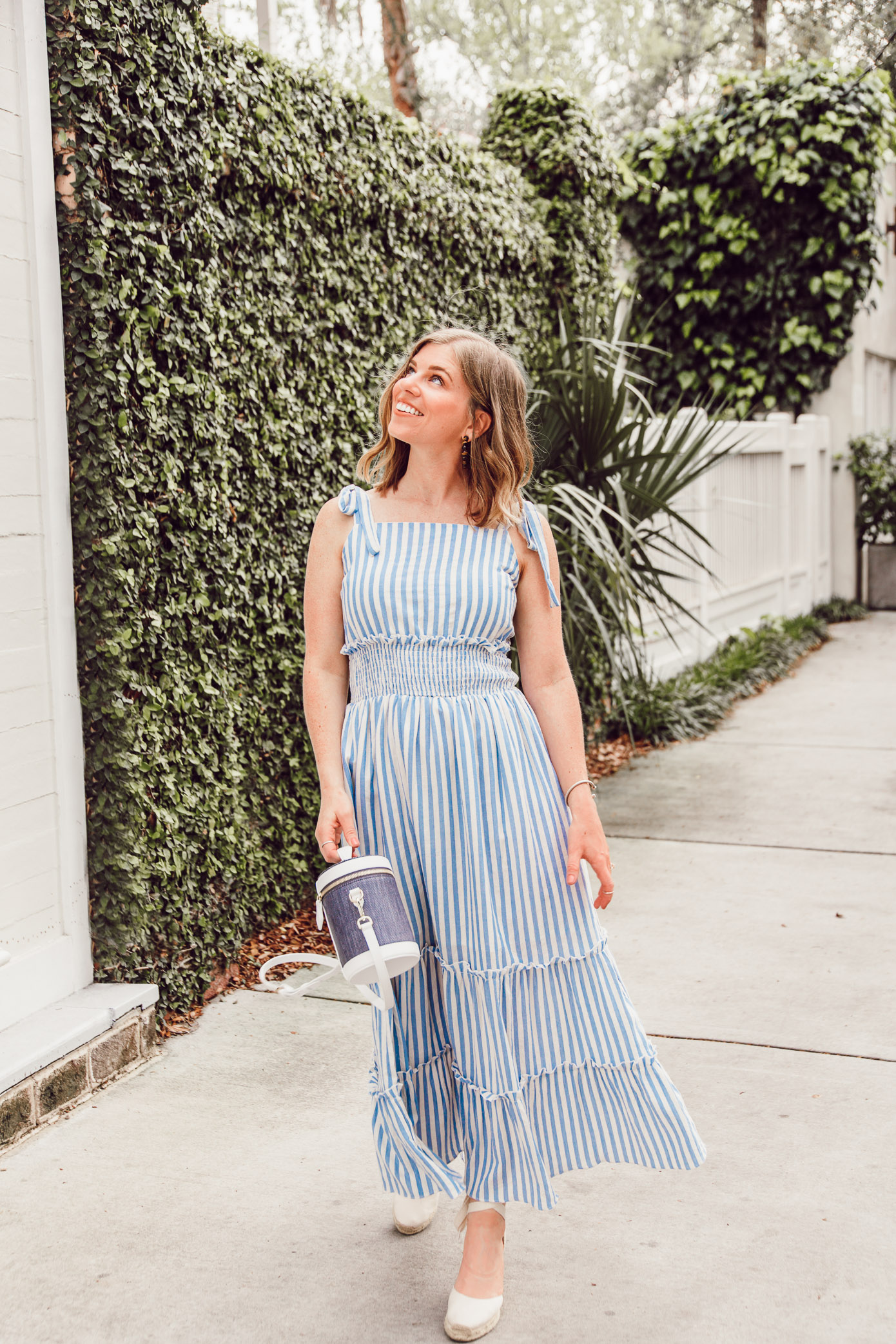 How the Wear Stripe Outfits in A Fashionable Way + the Striped Maxi Dress you need Now   Louella Reese