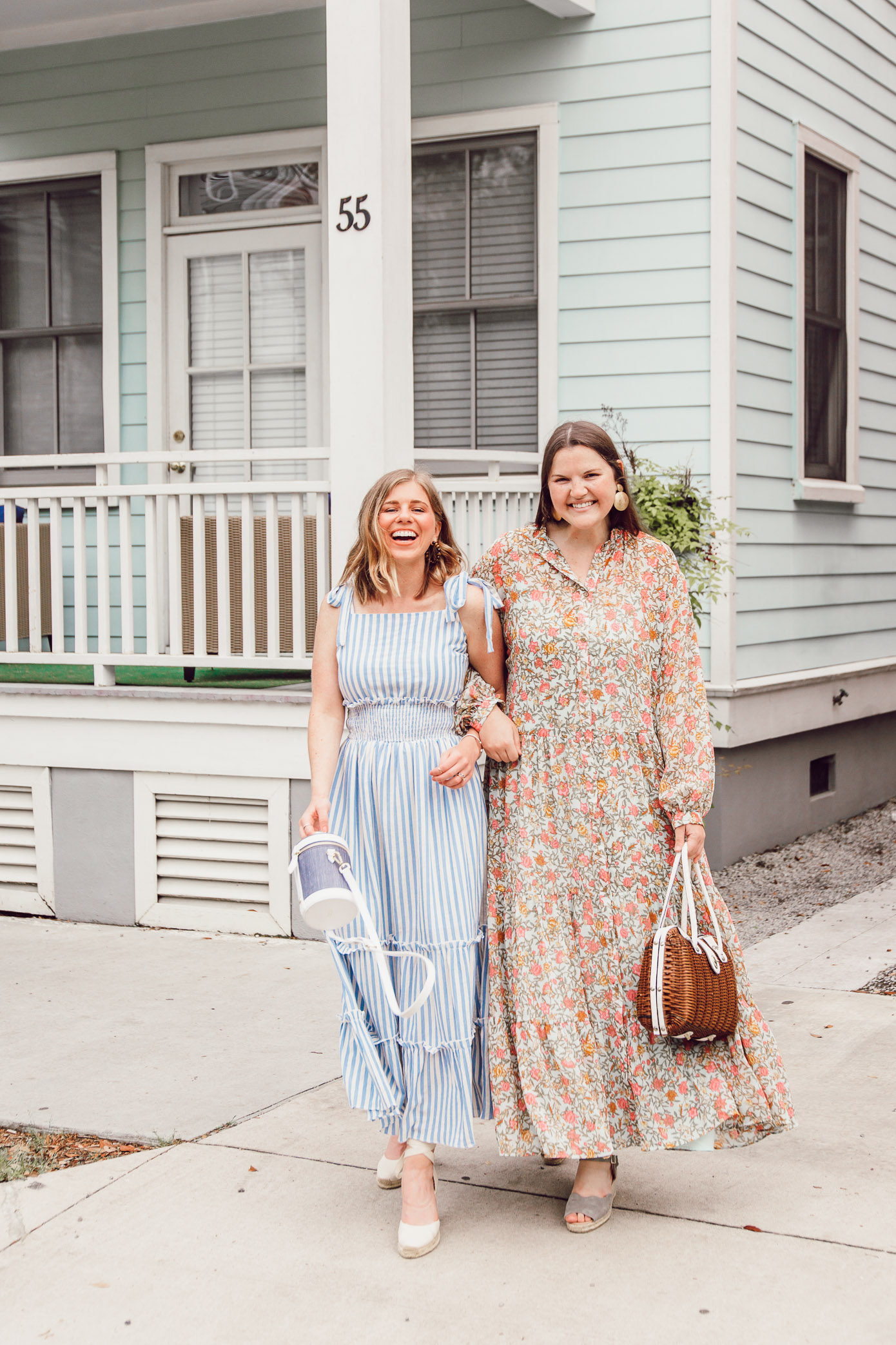 The BEST Spring Maxi Dresses   Ft. English Factory, H&M, Soludos, Paravel   Louella Reese