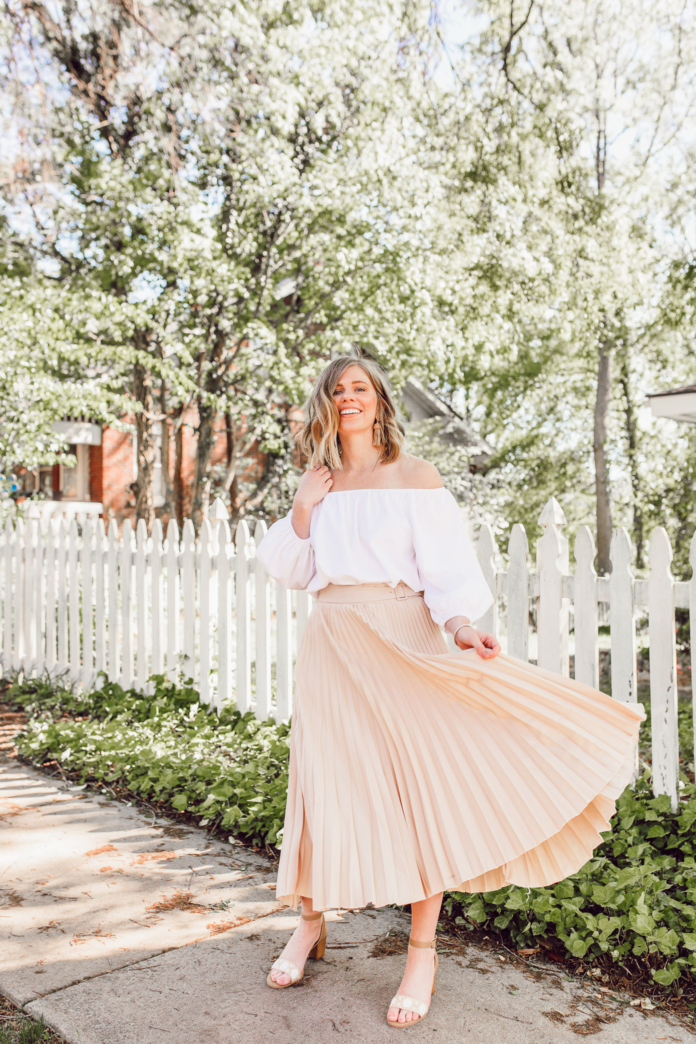 Why neutral midi skirts are a wardrobe must + the best neutral midi skirts to shop now   Louella Reese