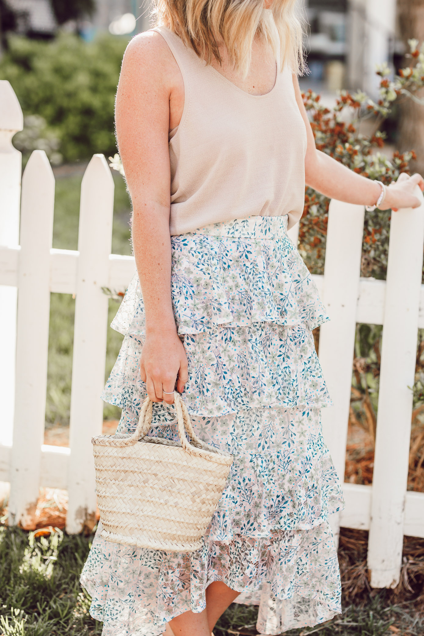 Florals for spring? Groundbreaking? The floral midi skirt you need in your closet this spring! | Louella Reese