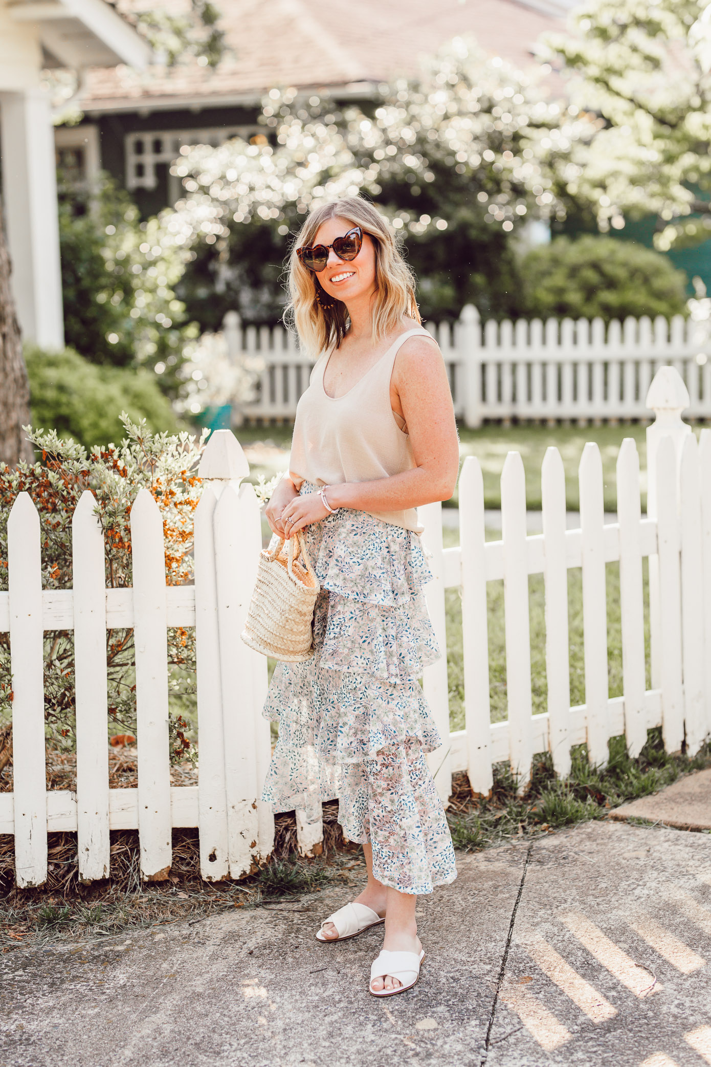 How to Casually Style a Midi Skirt this Summer | Casual Midi Skirt | Louella Reese