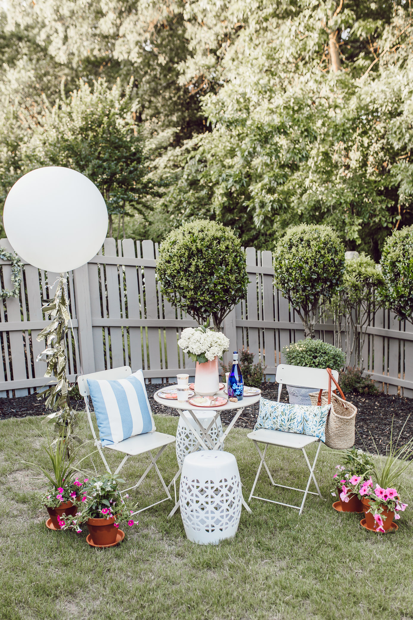 How to Decorate Your Backyard for Garden Party | Louella Reese