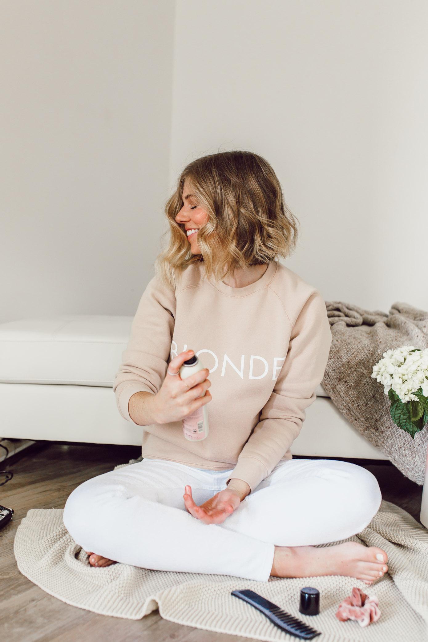 Short Hair Curling Wand Tutorial   Curled Lob Haircut   Louella Reese