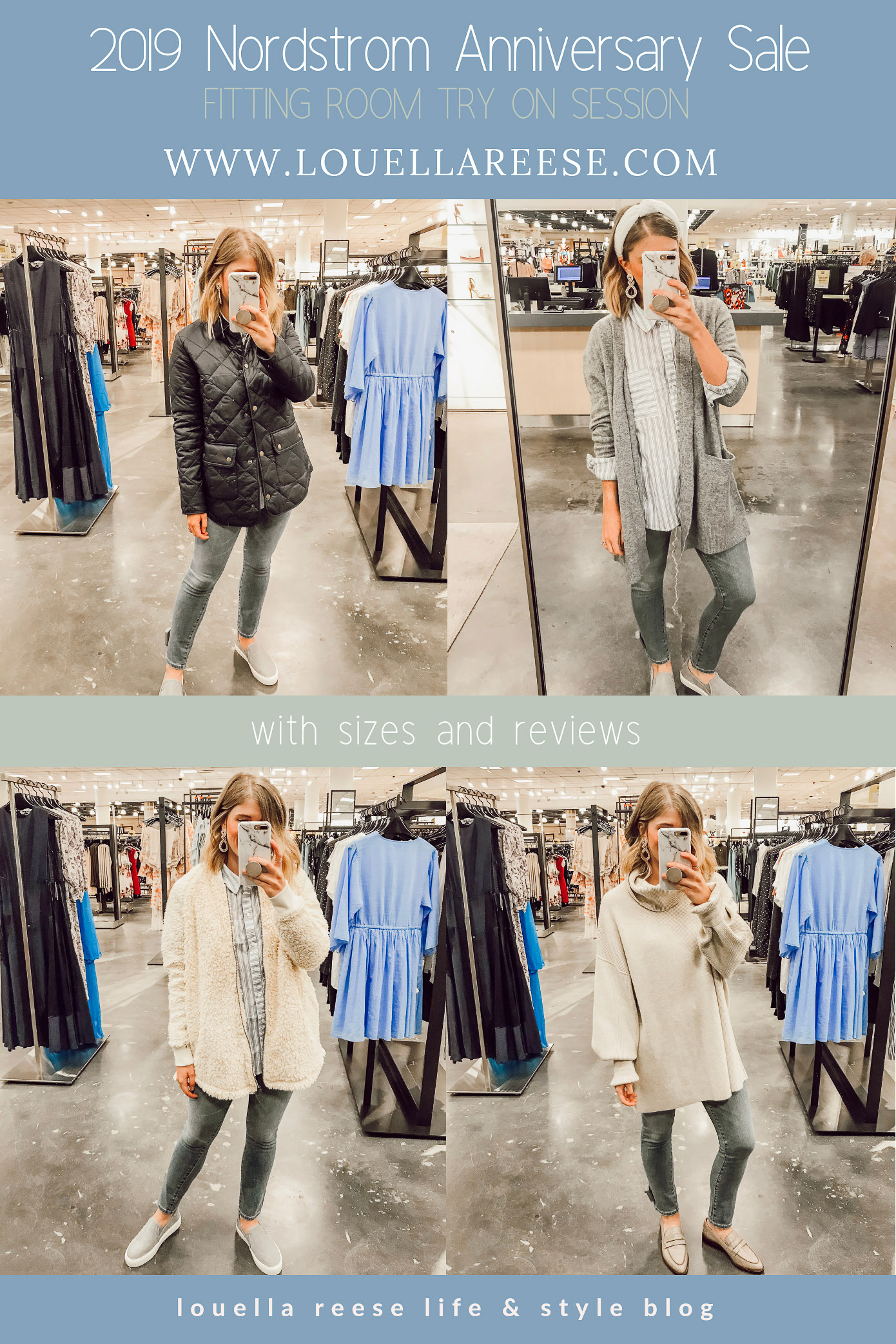 2019 Nordstrom Anniversary Fitting Room Session featured on Louella Reese Life & Style Blog