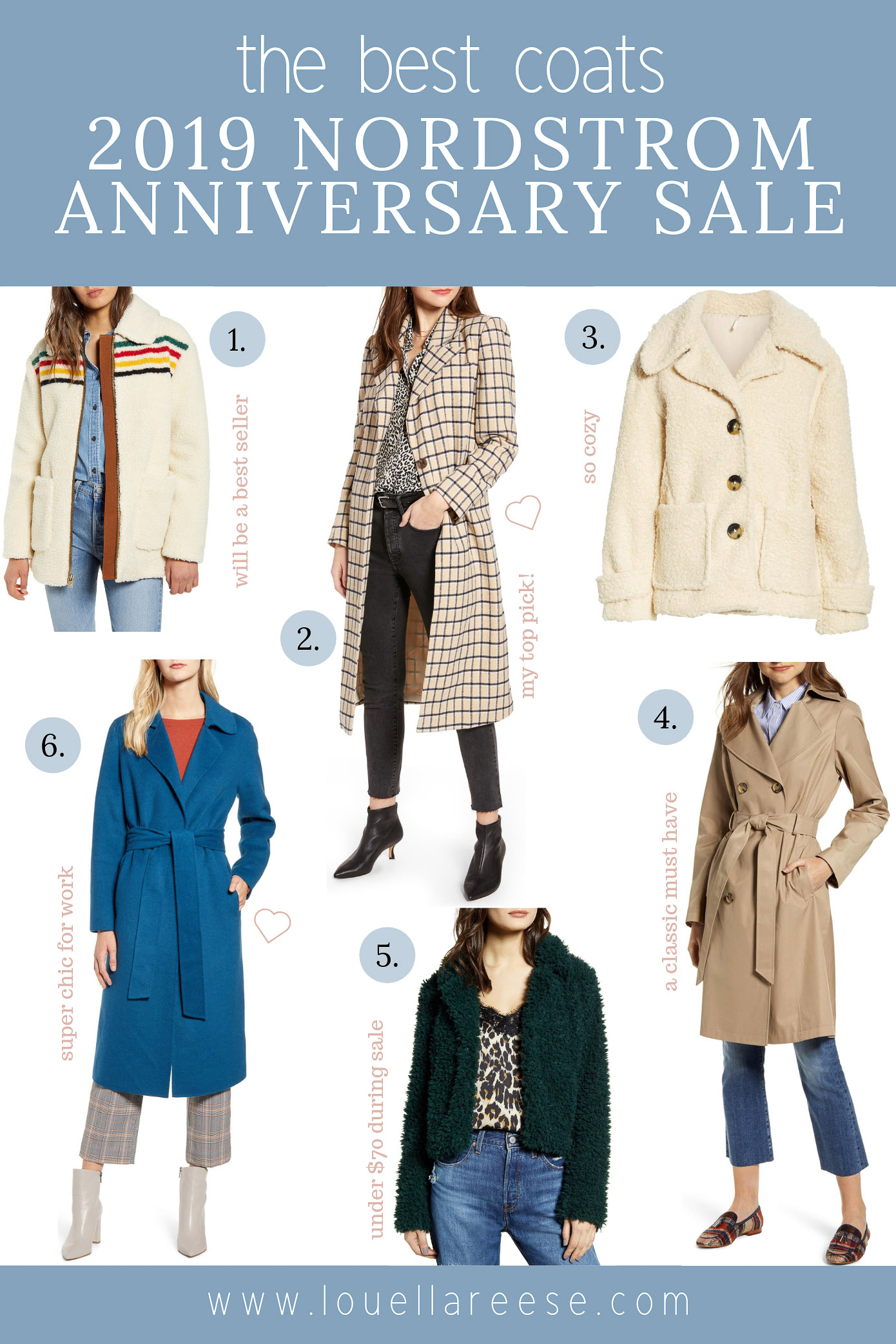 2019 Nordstrom Anniversary Sale Best Coats | The BEST Coats from the 2019 Nordstrom Anniversary Sale | Louella Reese