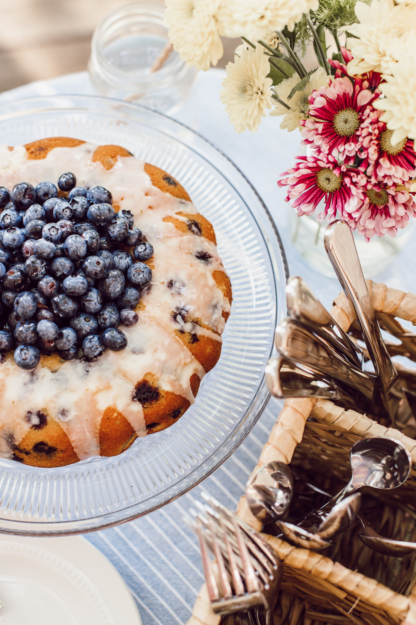 Fourth of July Desserts   4th of July Dessert   Easy Blueberry Bundt Cake   Louella Reese