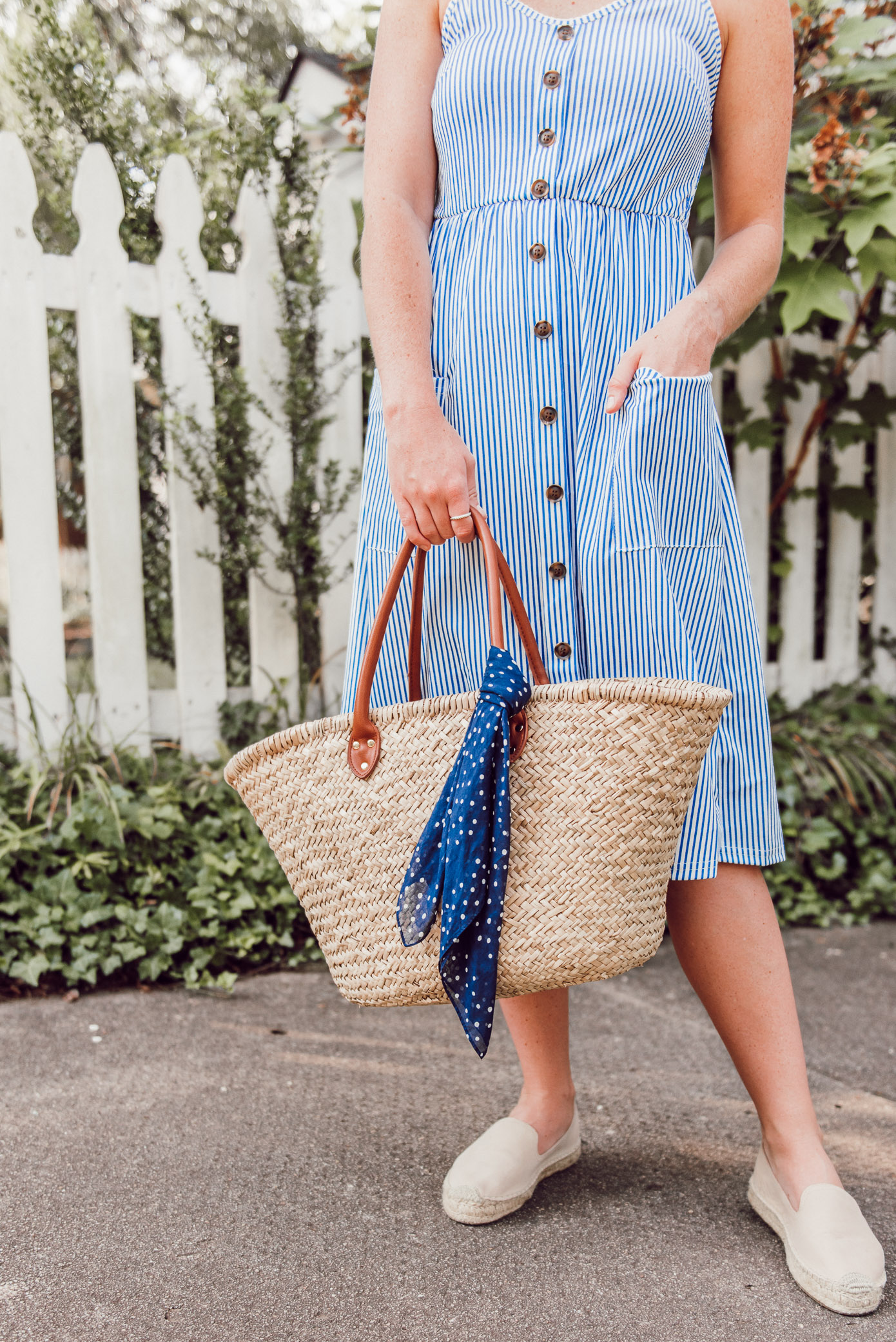 Amazon Dress under $25 | Summer Dresses, Large Straw Tote, Espadrille Loafers | Louella Reese