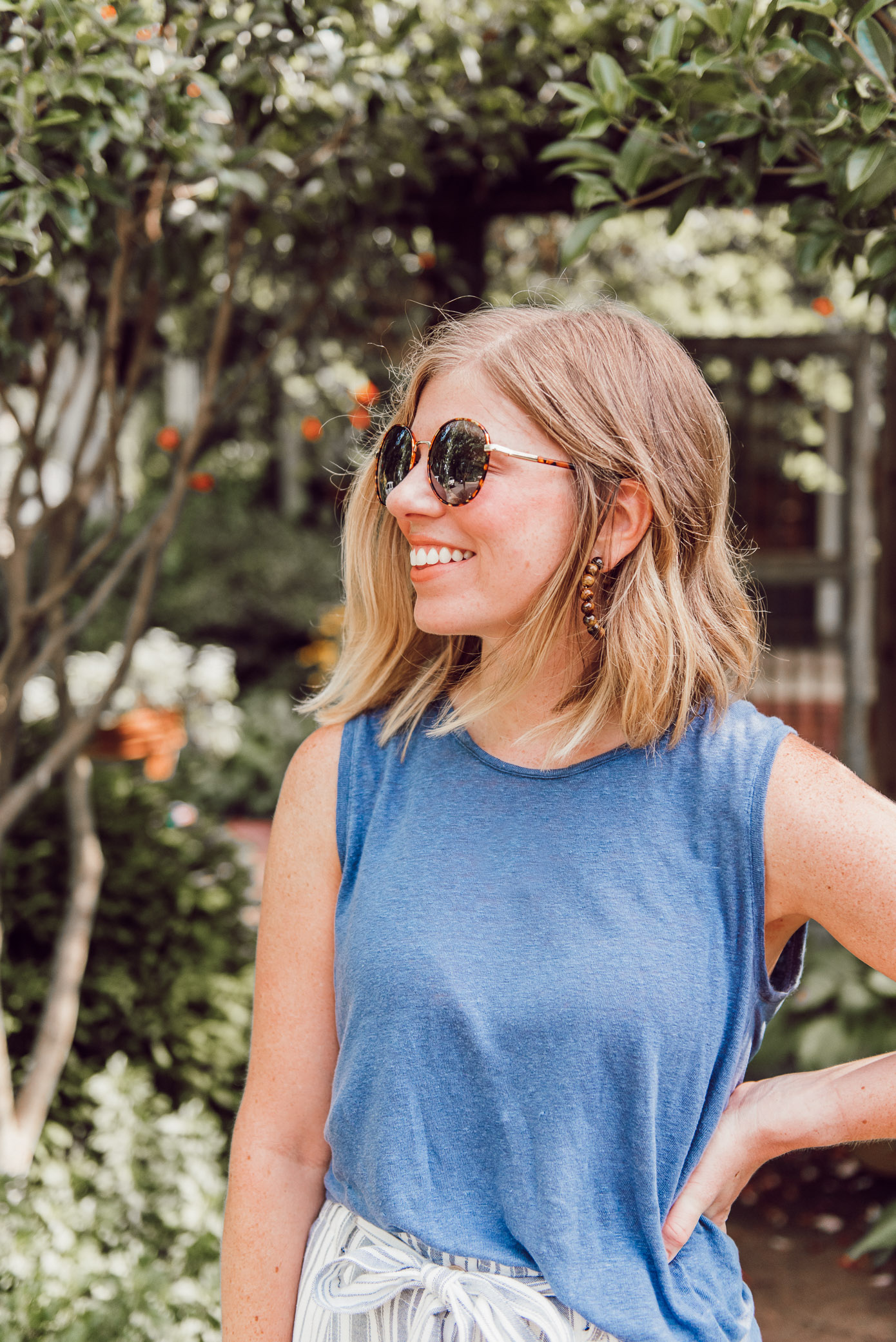 Ray-Ban Icons Retro Sunglasses Dupes | Round Framed Sunglasses under $20 | Louella Reese
