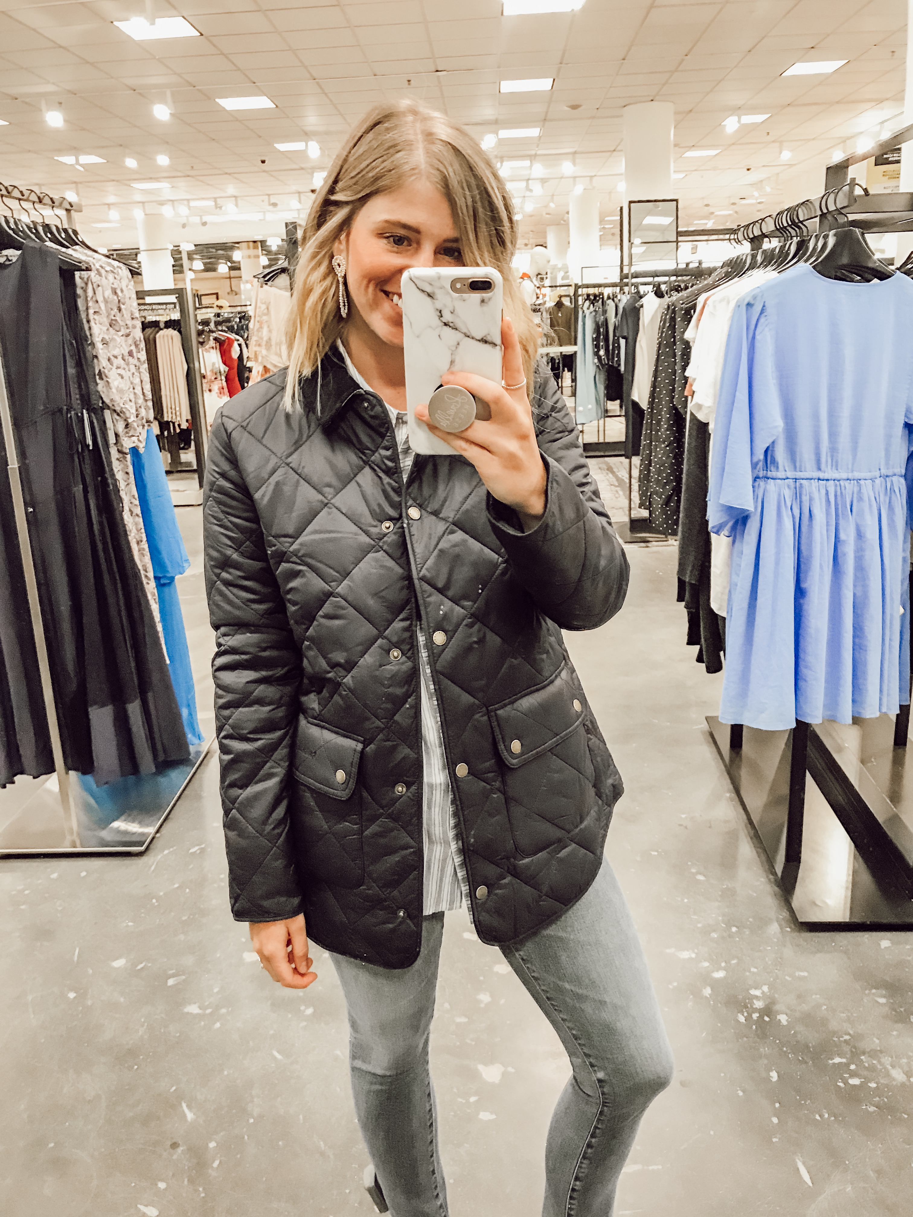 Barbour Oakland Quilted Jacket | 2019 Nordstrom Anniversary Fitting Room Session featured on Louella Reese Life & Style Blog