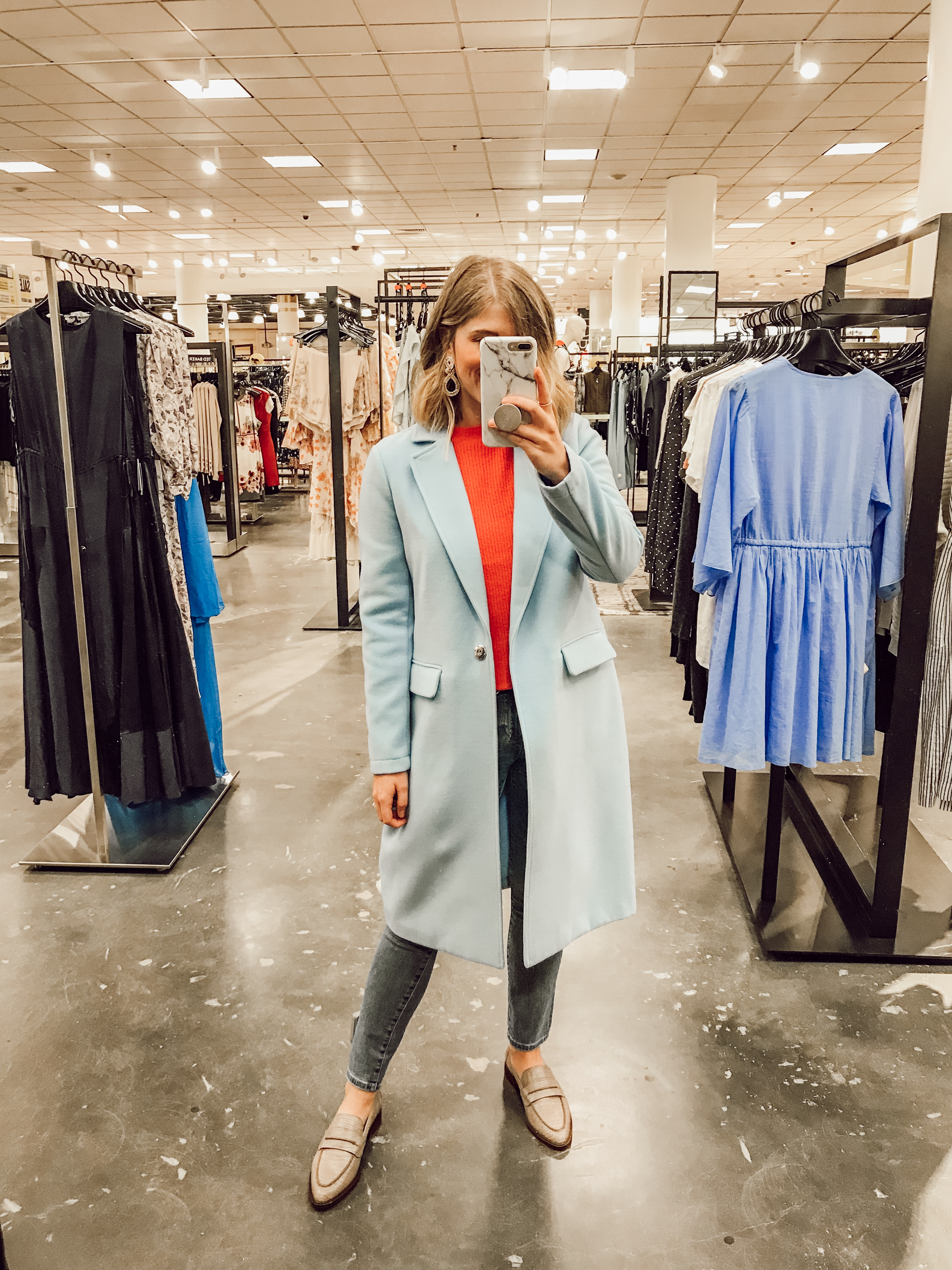 Vince Camuto Lightweight Long Coat | 2019 Nordstrom Anniversary Fitting Room Session featured on Louella Reese Life & Style Blog