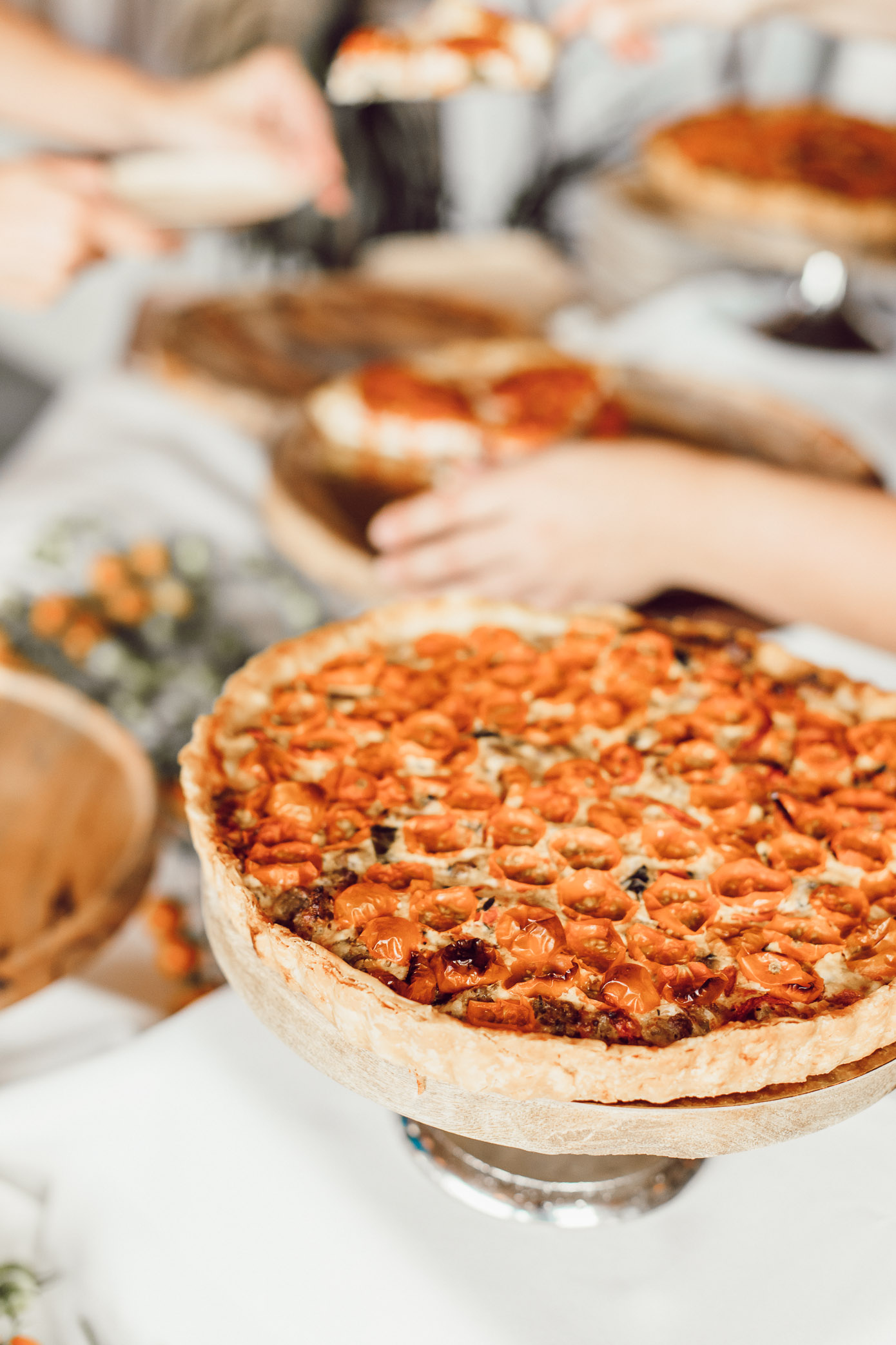 Tomato Cheese Pie | Tillamook Melty Fest | Louella Reese