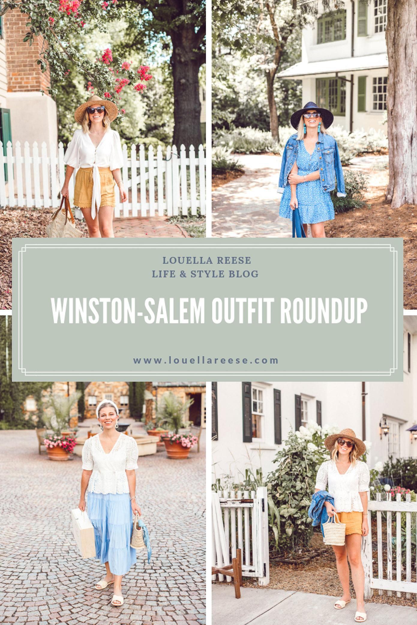 Winston-Salem Outfits - Everything I wore to explore Winston-Salem | Louella Reese