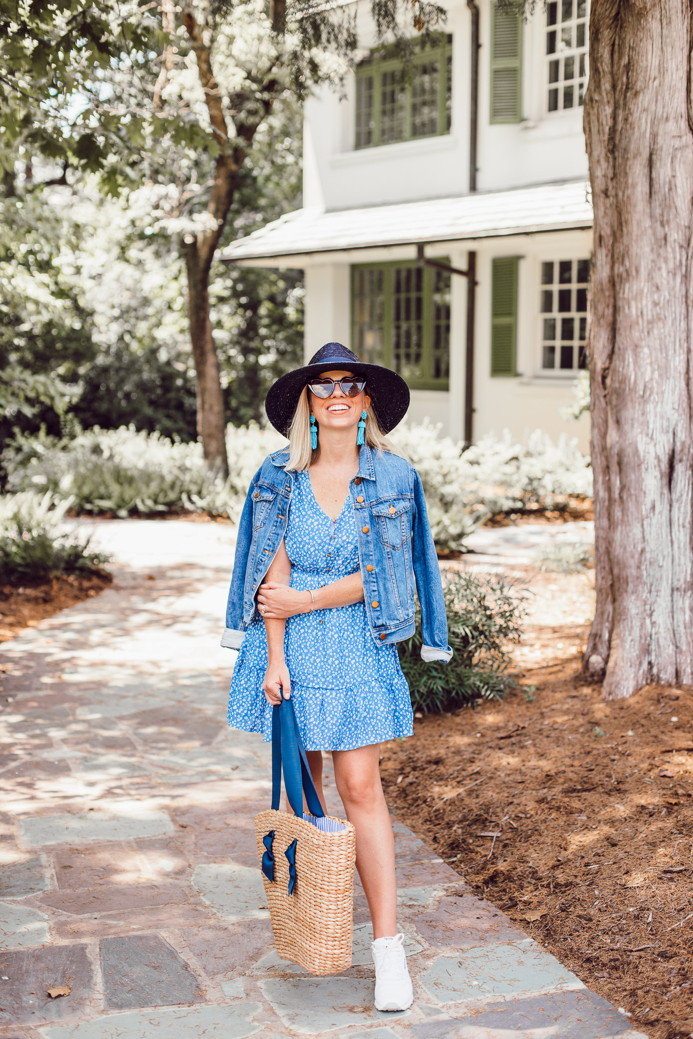 Amazon Fashion Find | Blue Swing Dress under $25, Easy Summer Dresses | Louella Reese