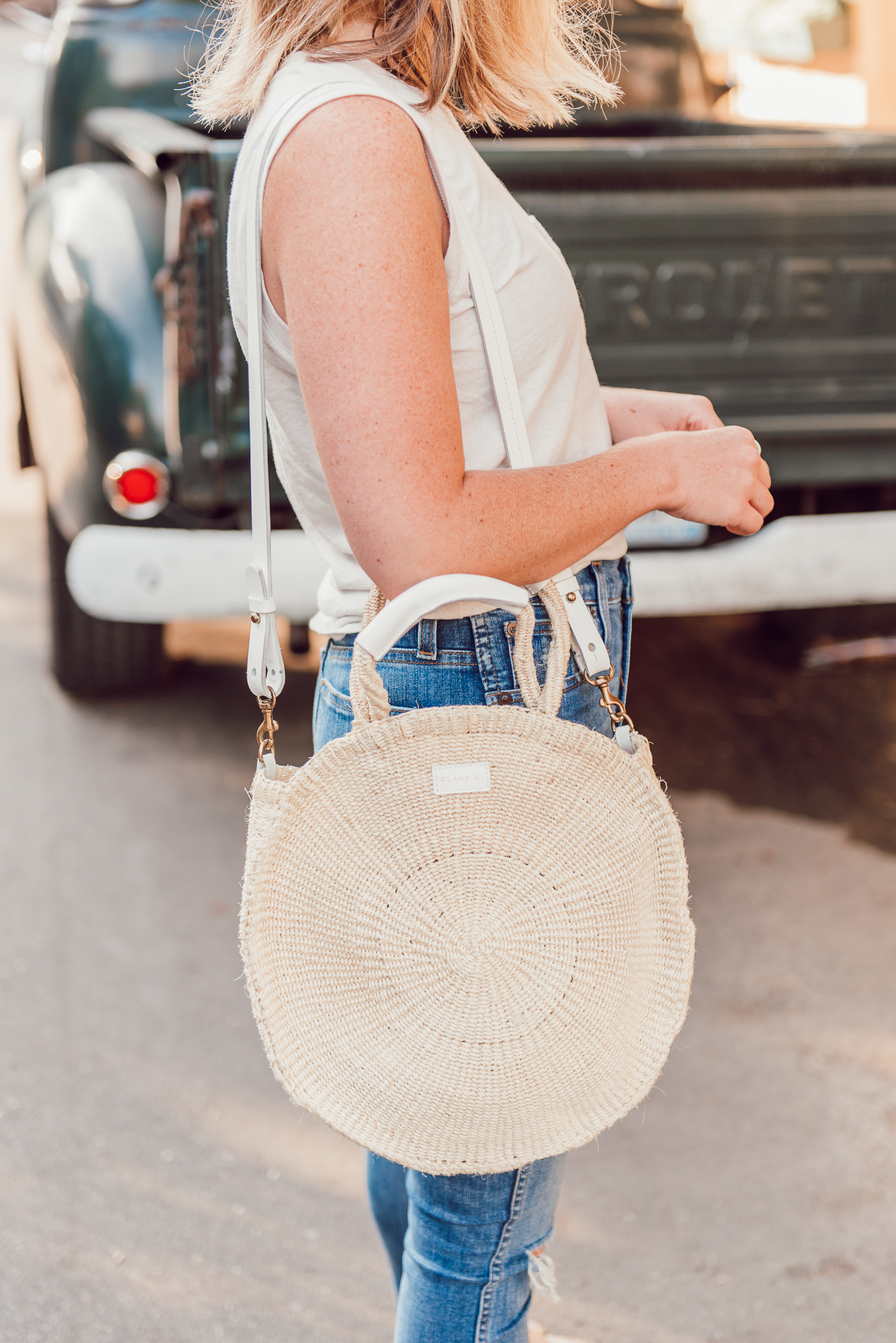 Clare V. Alice Tote, Woven Totes, Straw Bags | Louella Reese