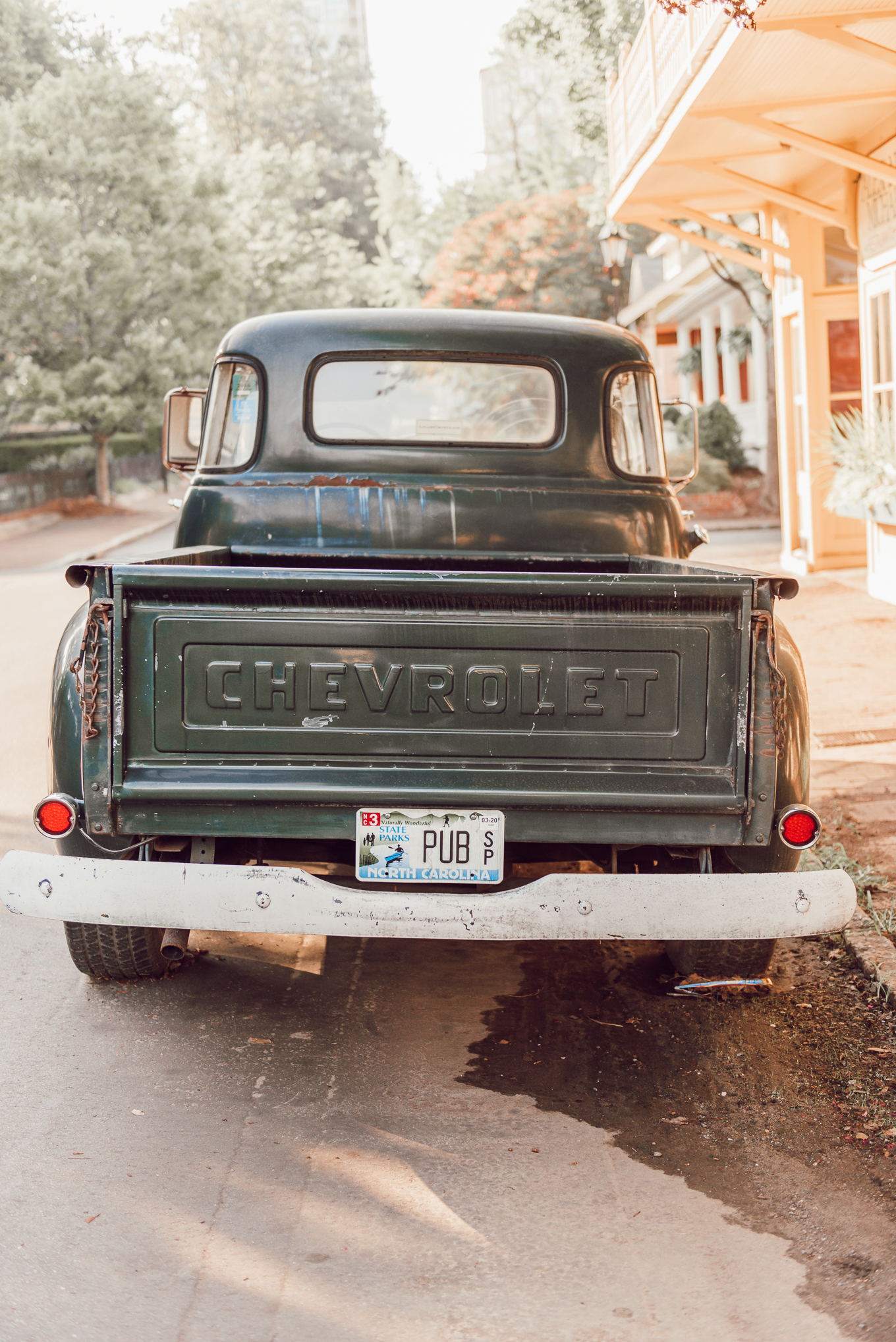 Old Green Chevy Truck