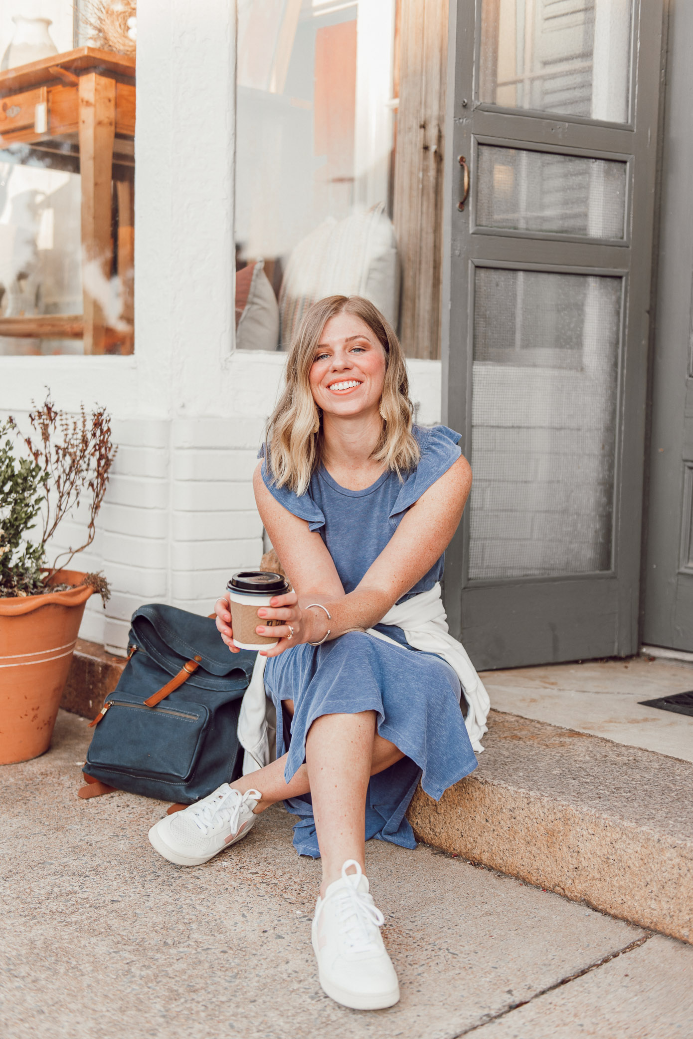 T-Shirt Midi Dress Styled Two Ways | One Dress Two Seasons - How to Style for Summer and then into the Fall Season | Louella Reese