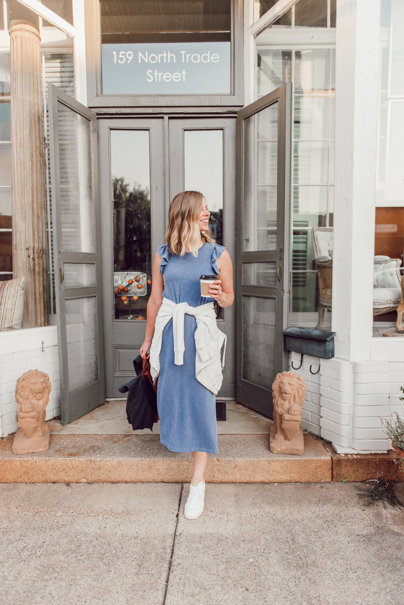 T-Shirt Midi Dress Styled Two Ways   One Dress Two Seasons - How to Style for Summer and then into the Fall Season   Louella Reese