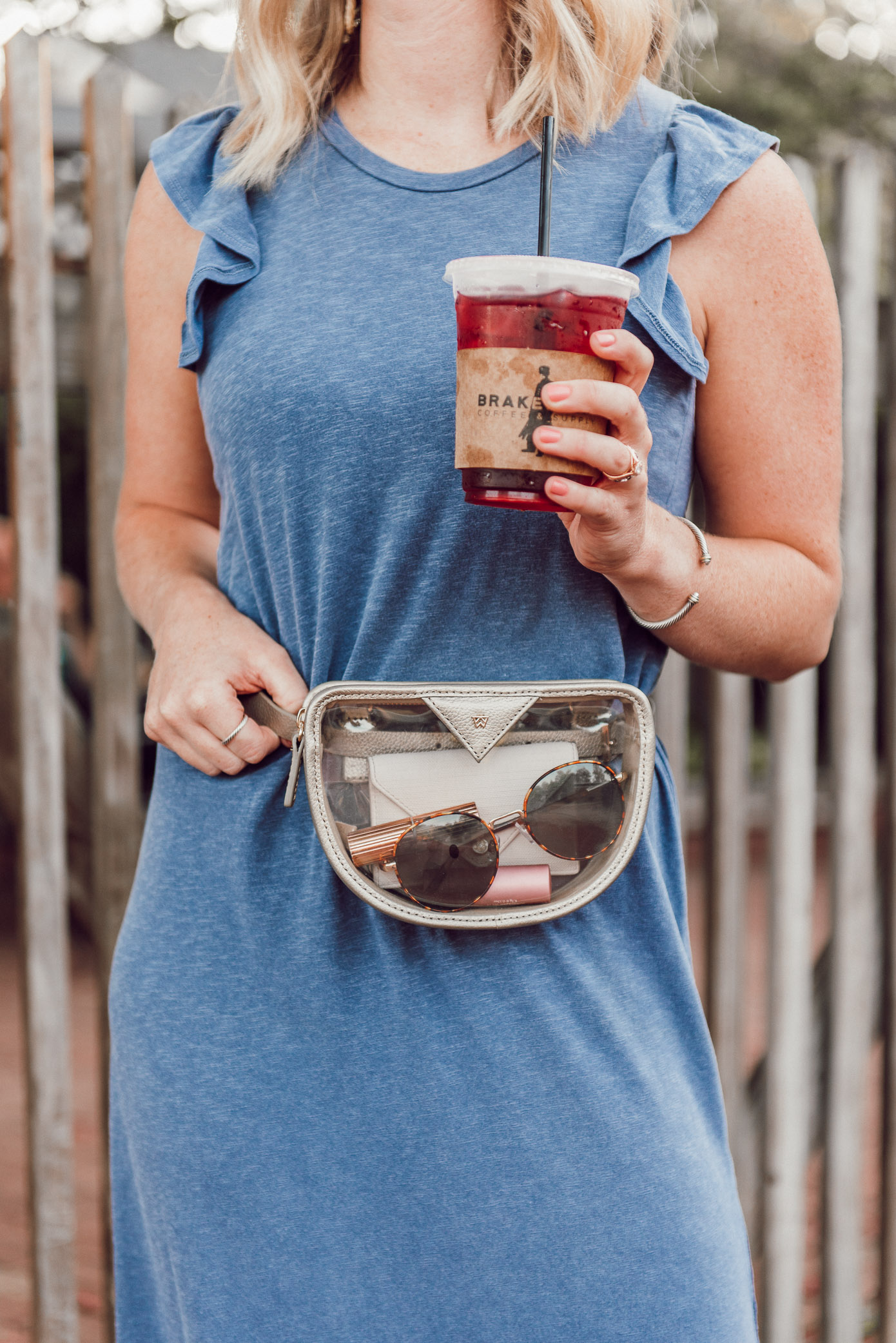 Clear Belt Bag, Clear Waist Bags   Stylish Game Day Bags   Louella Reese