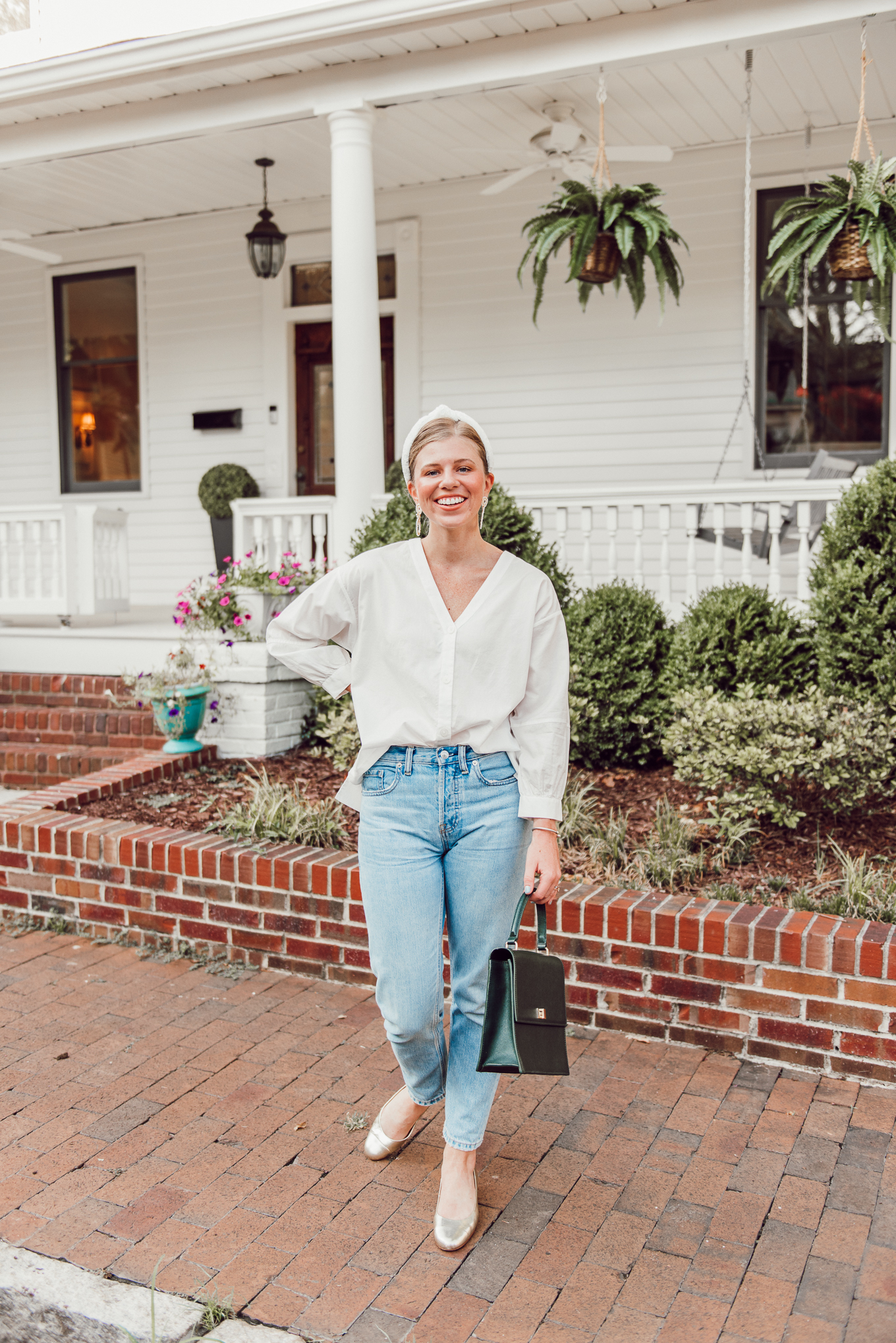 5 White Tops and Sweaters for Fall | How to Wear White into Fall | Louella Reese