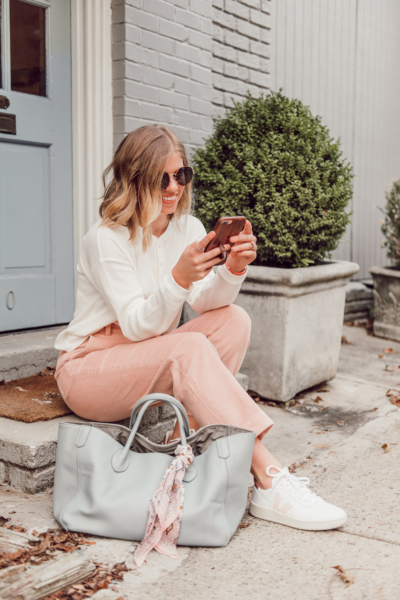 Two Ways I'm Styling Corduroys for Fall | Pink Corduroy Pants | Louella Reese
