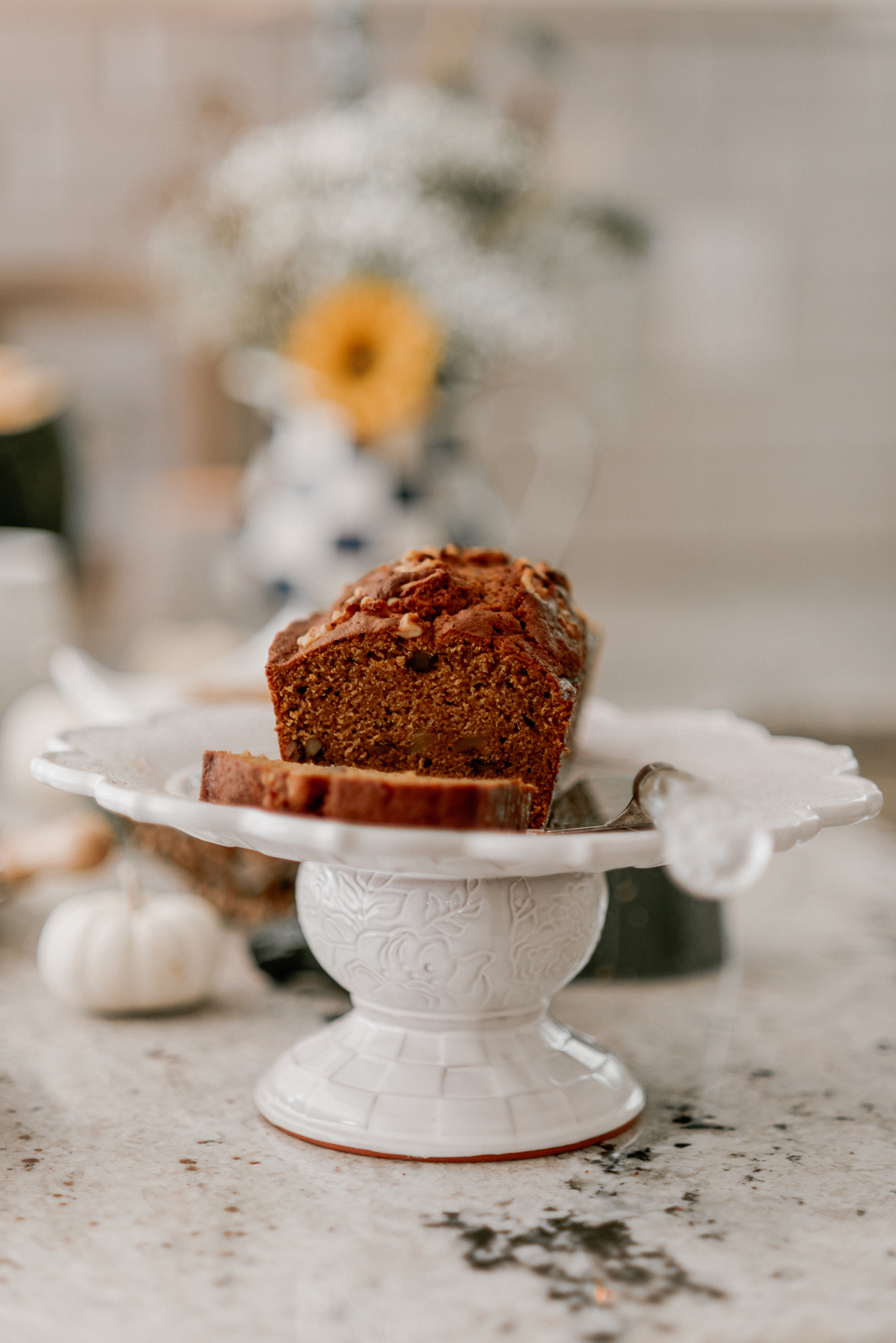 MacKenzie Childs Sweetbriar Cake Stand | Fall Entertaining | Louella Reese
