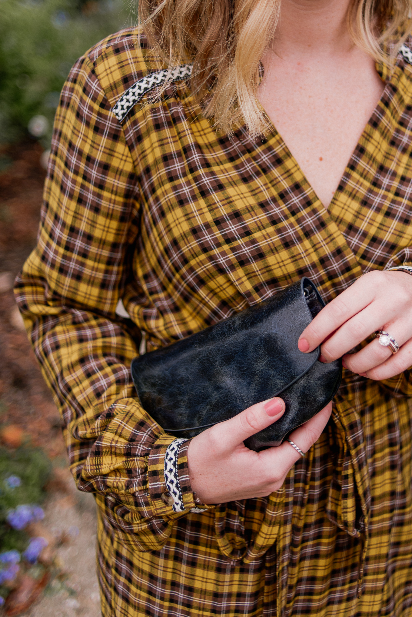 Fall Handbags - Navy Clutch under $50 | Louella Reese
