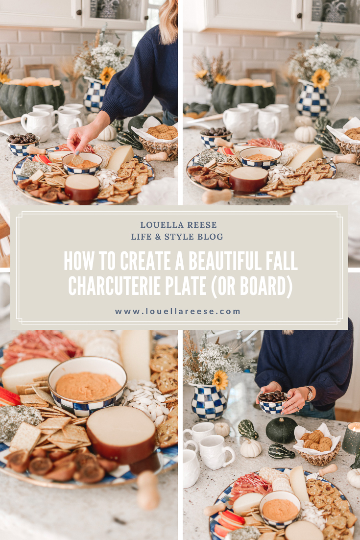 How to Create a Beautiful Fall Charcuterie Spread | Fall Entertaining with MacKenzie Childs | Louella Reese