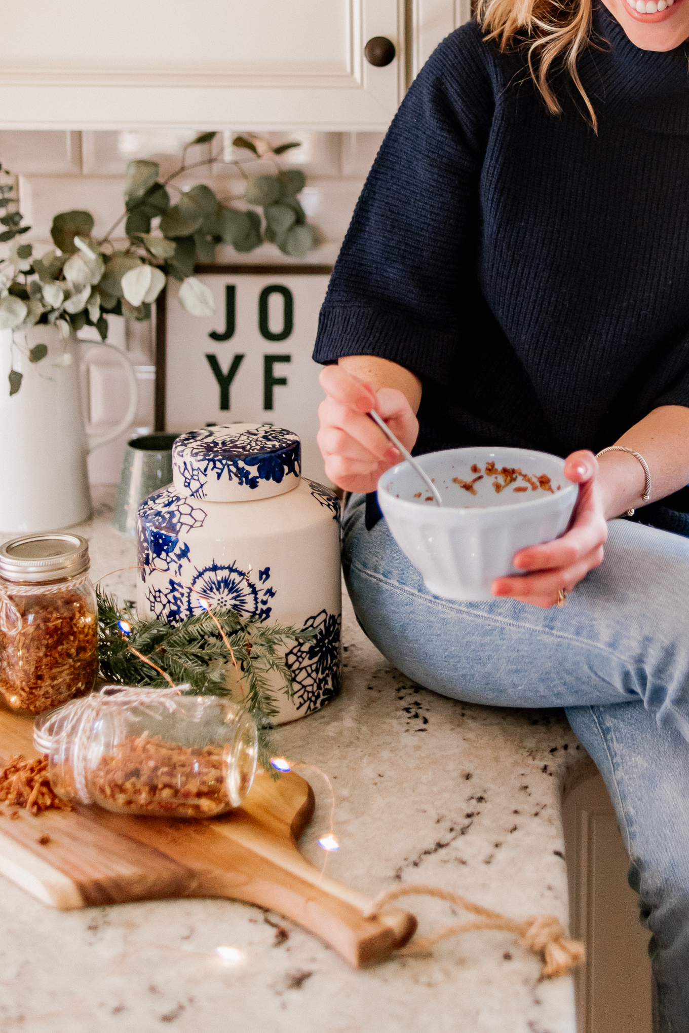 Low Carb Granola | FWTFL Low Carb Day Granol Recipe | Holiday Treat for Neighbors and/or Hostess Gift | Louella Reese