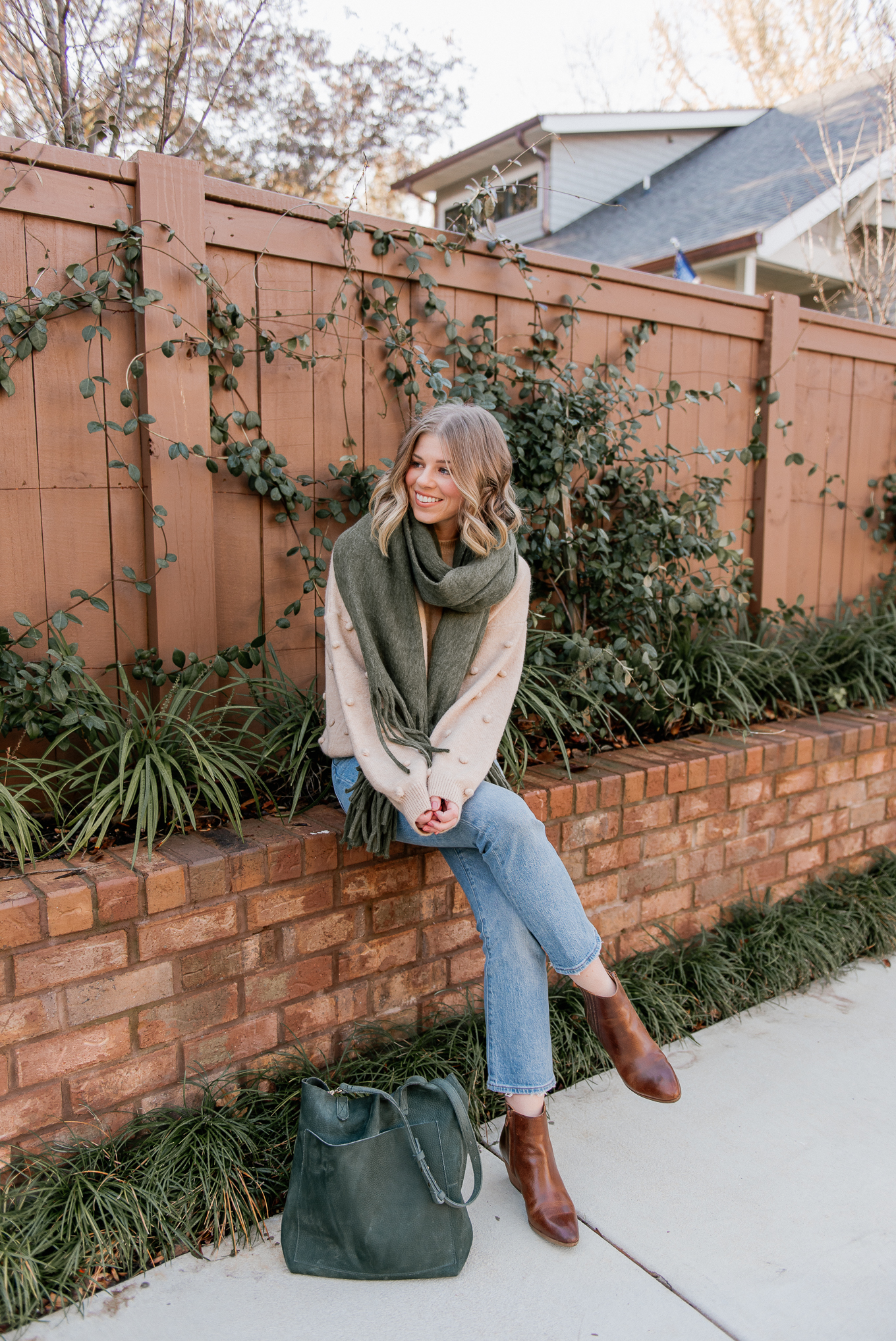 20 Things I want to Make Happen in 2020 | 2020 Goals | Olive Scarf, Pom-Pom Sweater | Louella Reese