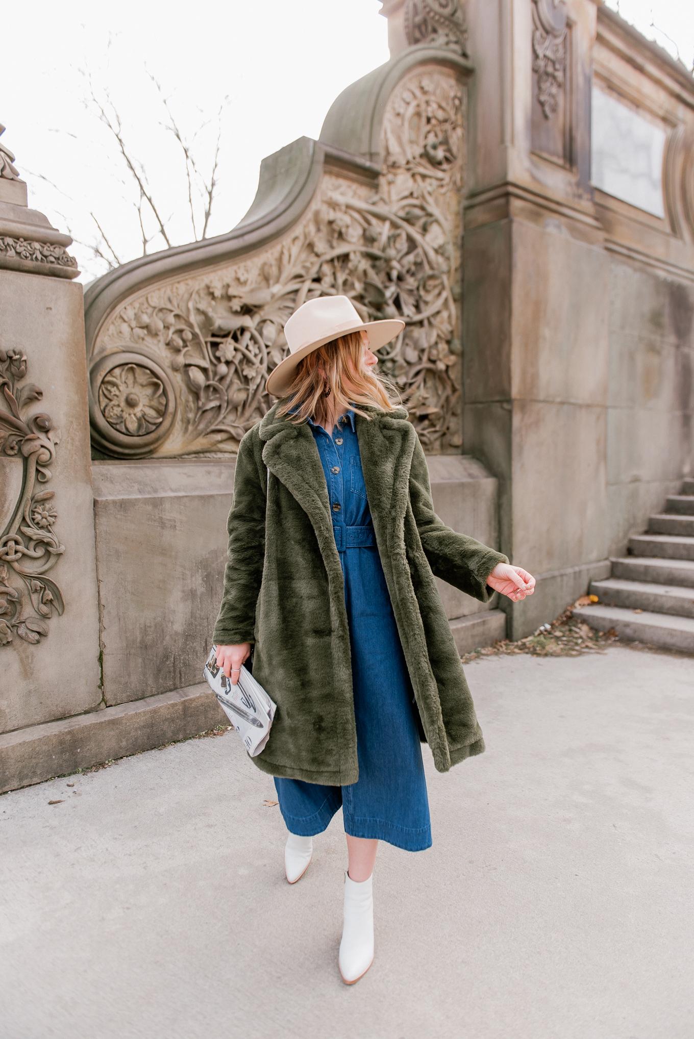The Best Green Faux Fur Coats under $200 - Louella Reese