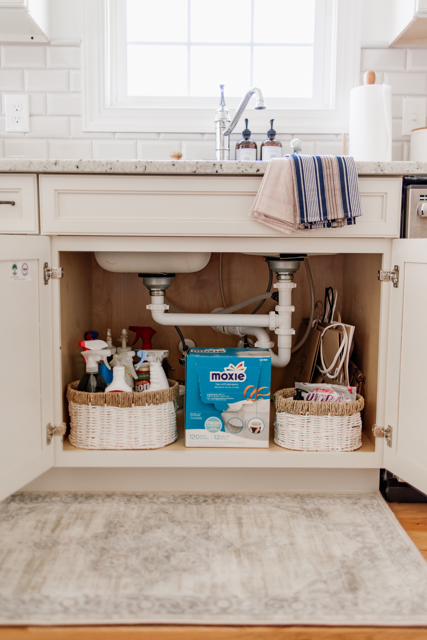 Under Sink Organization | Kitchen Rug | Louella Reese