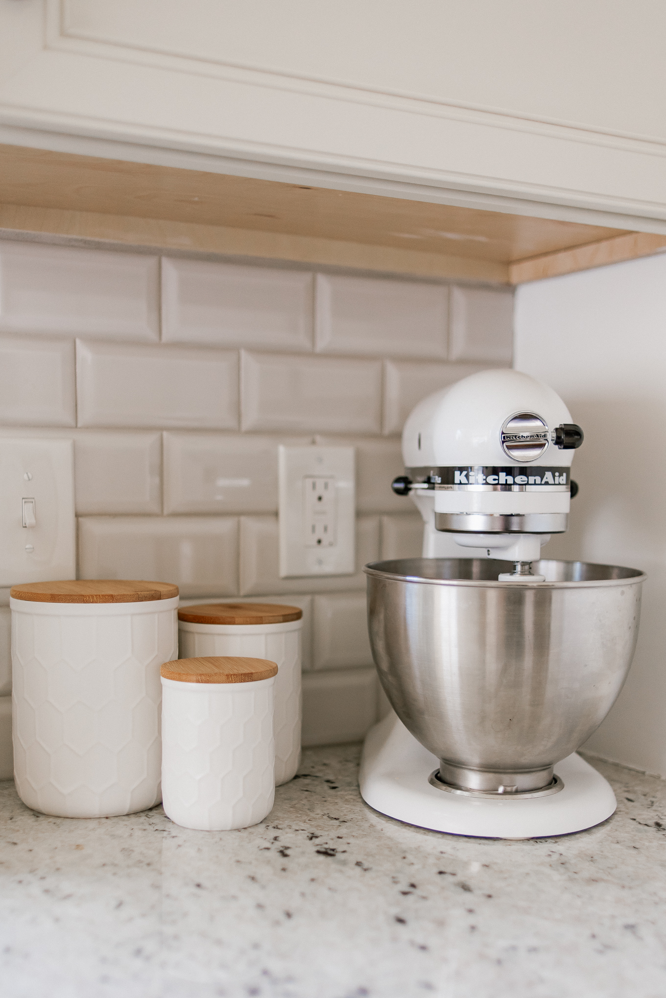 Kitchen Canister Set | White Kitchen Decor | Louella Reese