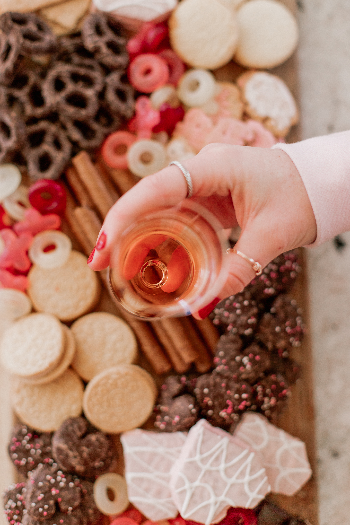 What to Serve at a Galentine's Day Party | Sparkling Rosé for Valentines Day | Louella Reese