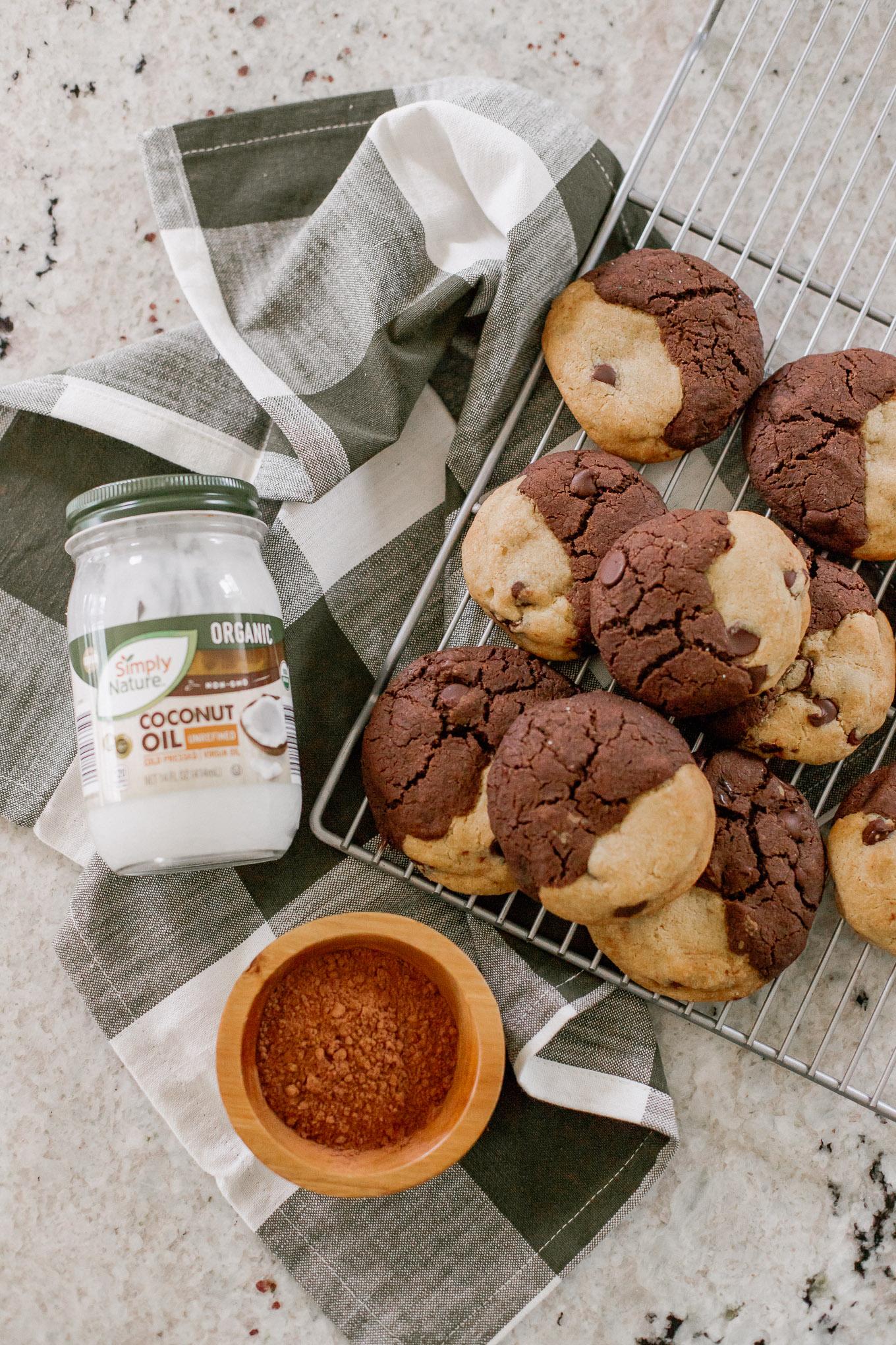 The BEST BROOKIE Recipe - Half Brownie, Half Chocolate Chip Cookie Cookies | Louella Reese