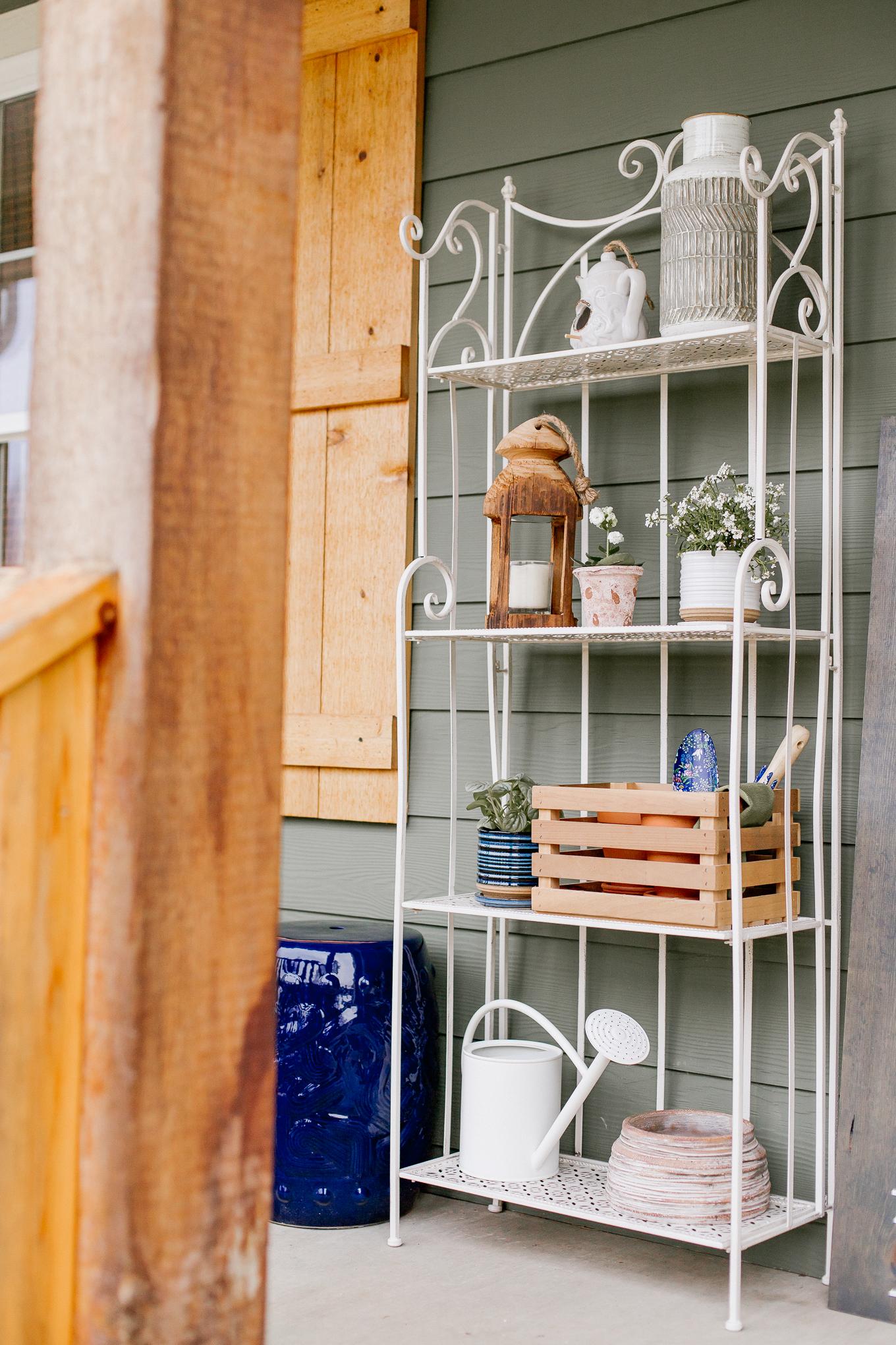 Potting Shelf, Outdoor Shelf, Garden Shelf | Outdoor Space Decor | Louella Reese